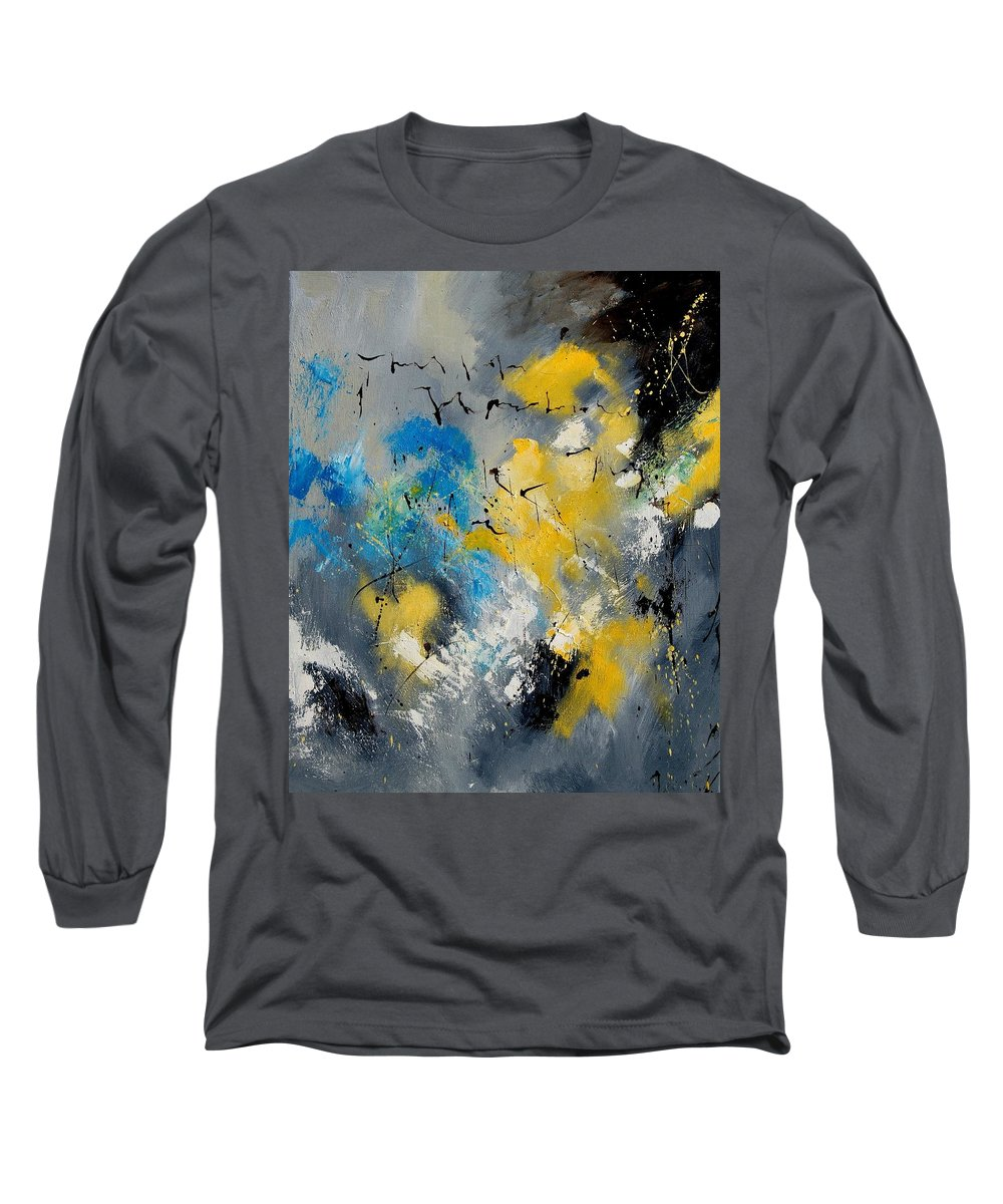Abstract Long Sleeve T-Shirt featuring the painting Abstract 569070 by Pol Ledent