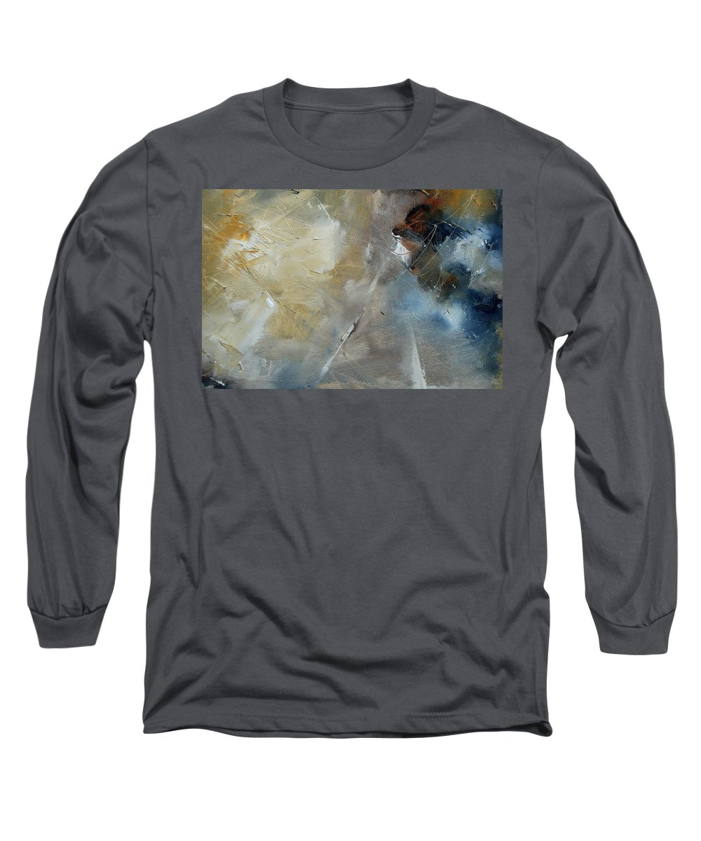 Abstract Long Sleeve T-Shirt featuring the painting Abstract 904060 by Pol Ledent