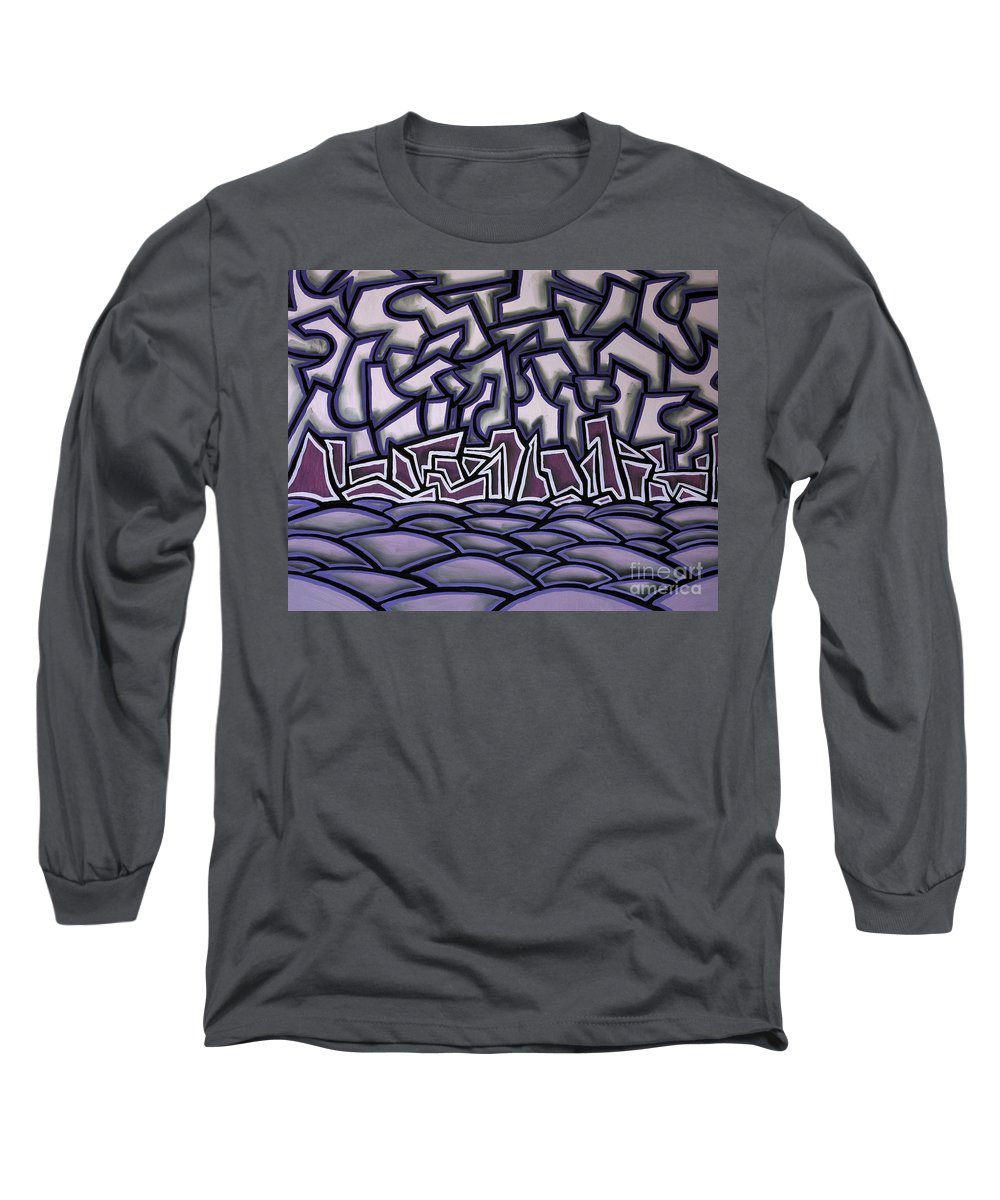 Landscape Long Sleeve T-Shirt featuring the painting Abstract Landscape by Thomas Valentine