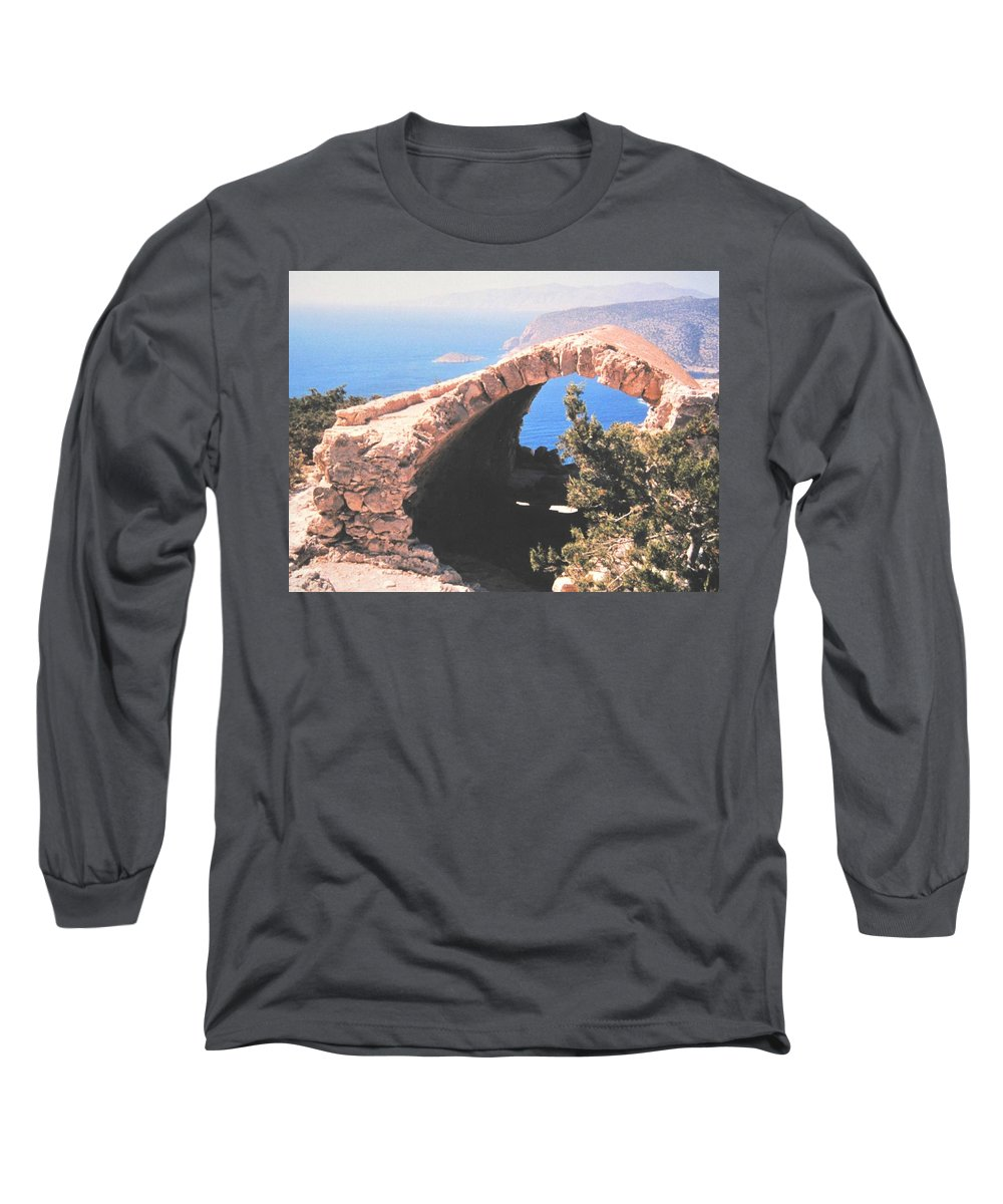 Greece Long Sleeve T-Shirt featuring the photograph Across To Turkey by Ian MacDonald