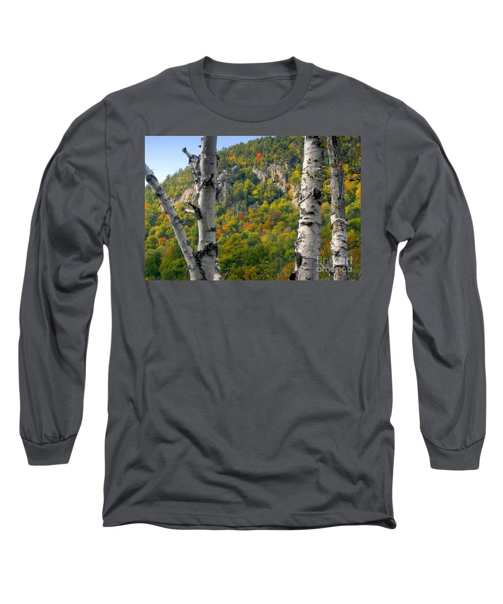 Adirondack Mountains New York Long Sleeve T-Shirt featuring the photograph Adirondack Mountains New York by David Lee Thompson