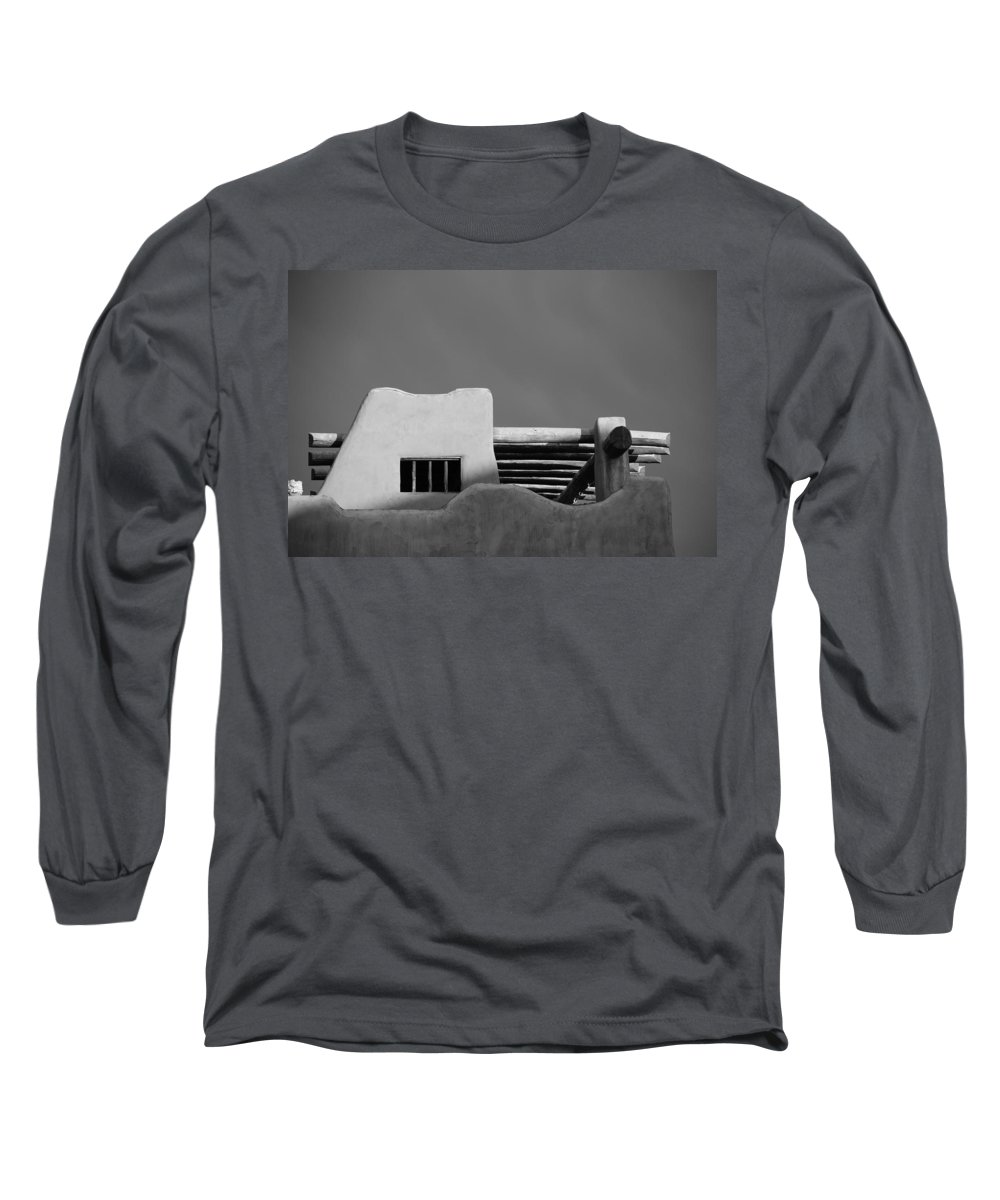 Architecture Long Sleeve T-Shirt featuring the photograph Adobe Turrett by Rob Hans