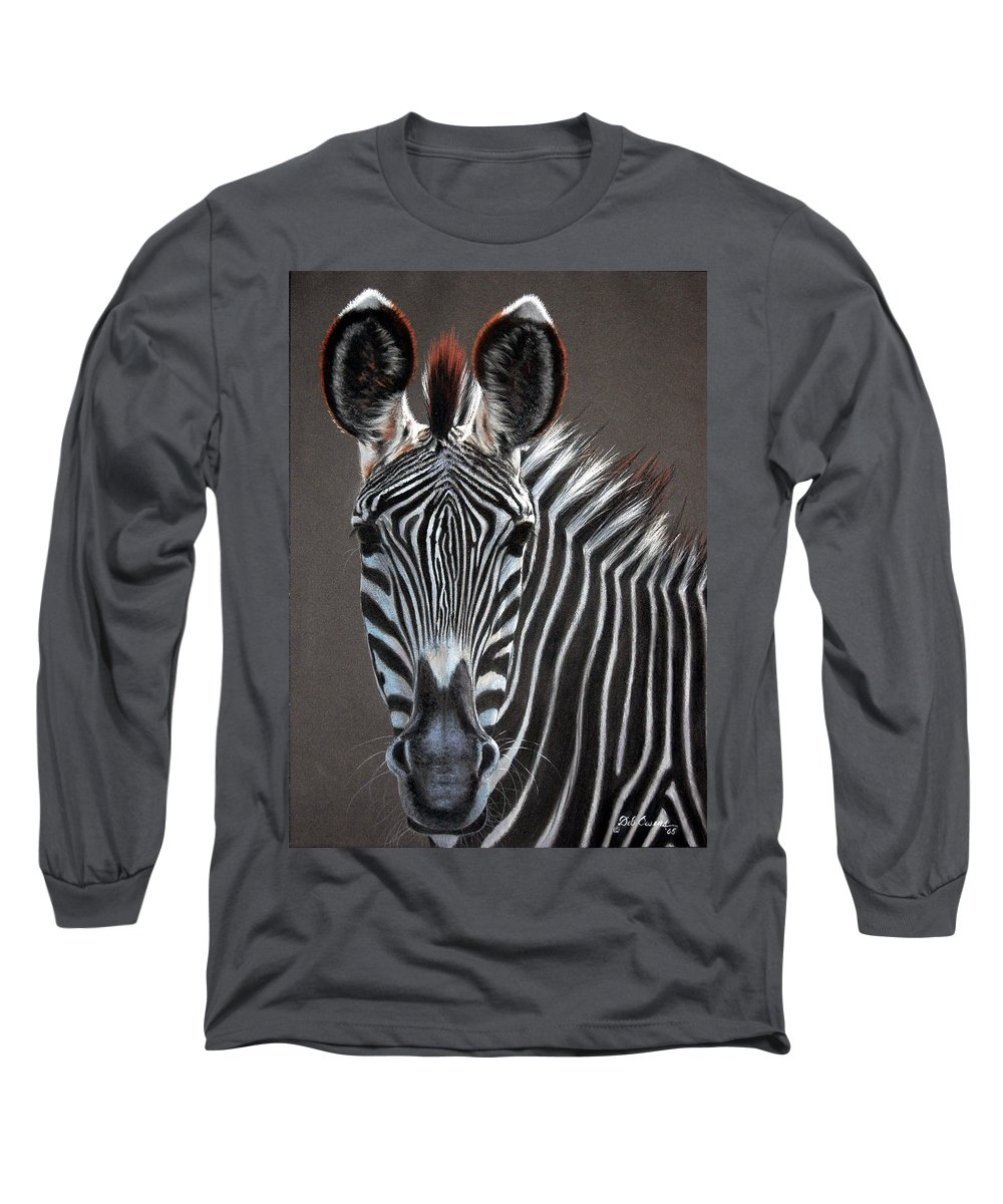 Wildlife Long Sleeve T-Shirt featuring the painting African Beauty by Deb Owens-Lowe