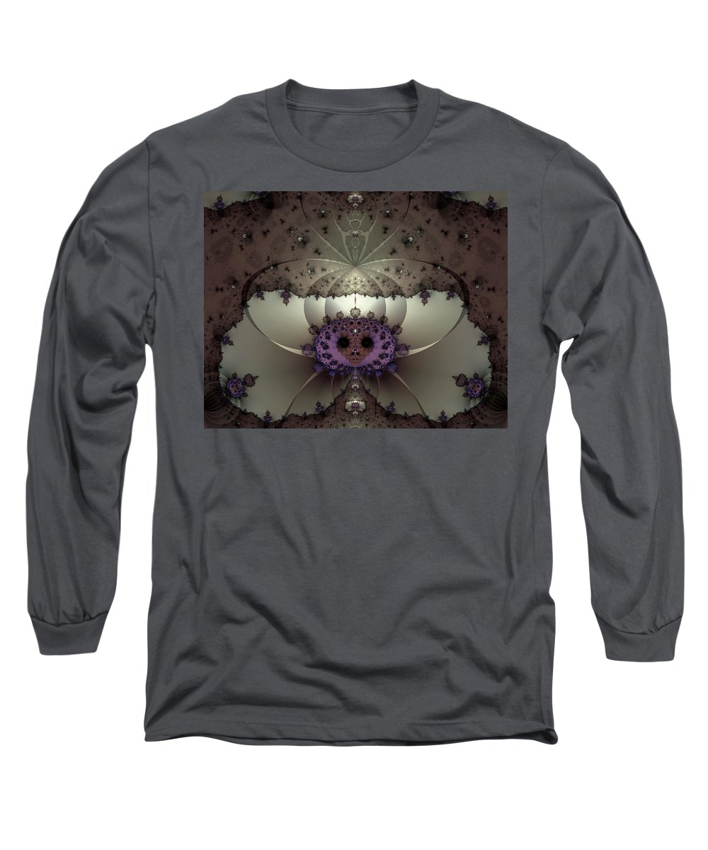 Abstract Long Sleeve T-Shirt featuring the digital art Alien Exotica by Casey Kotas