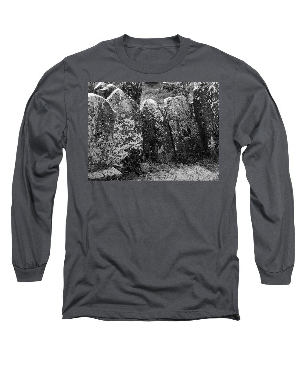 Ireland Long Sleeve T-Shirt featuring the photograph All In A Row At Fuerty Cemetery Roscommon Ireland by Teresa Mucha