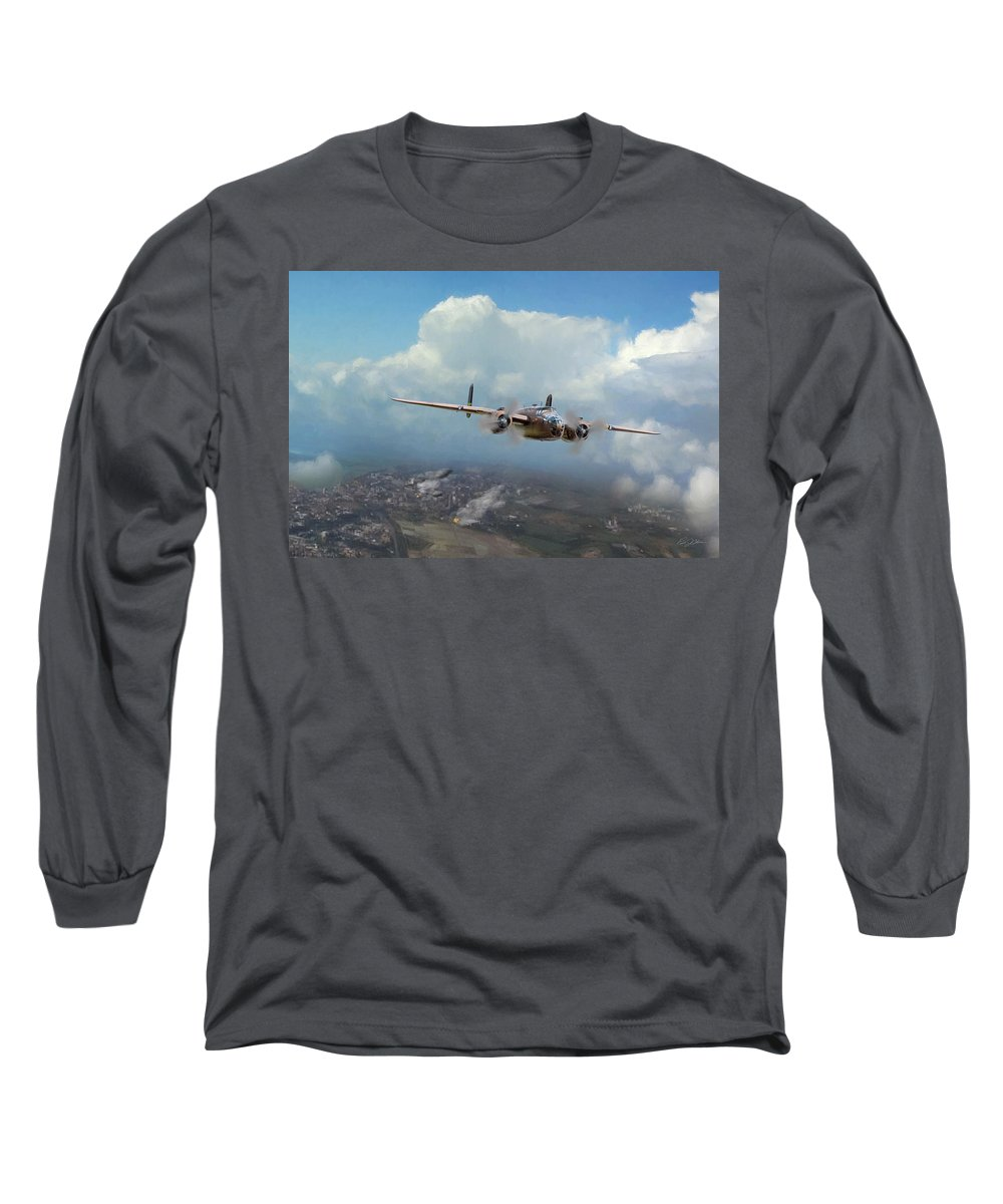 Aviation Long Sleeve T-Shirt featuring the digital art America Strikes Back by Peter Chilelli