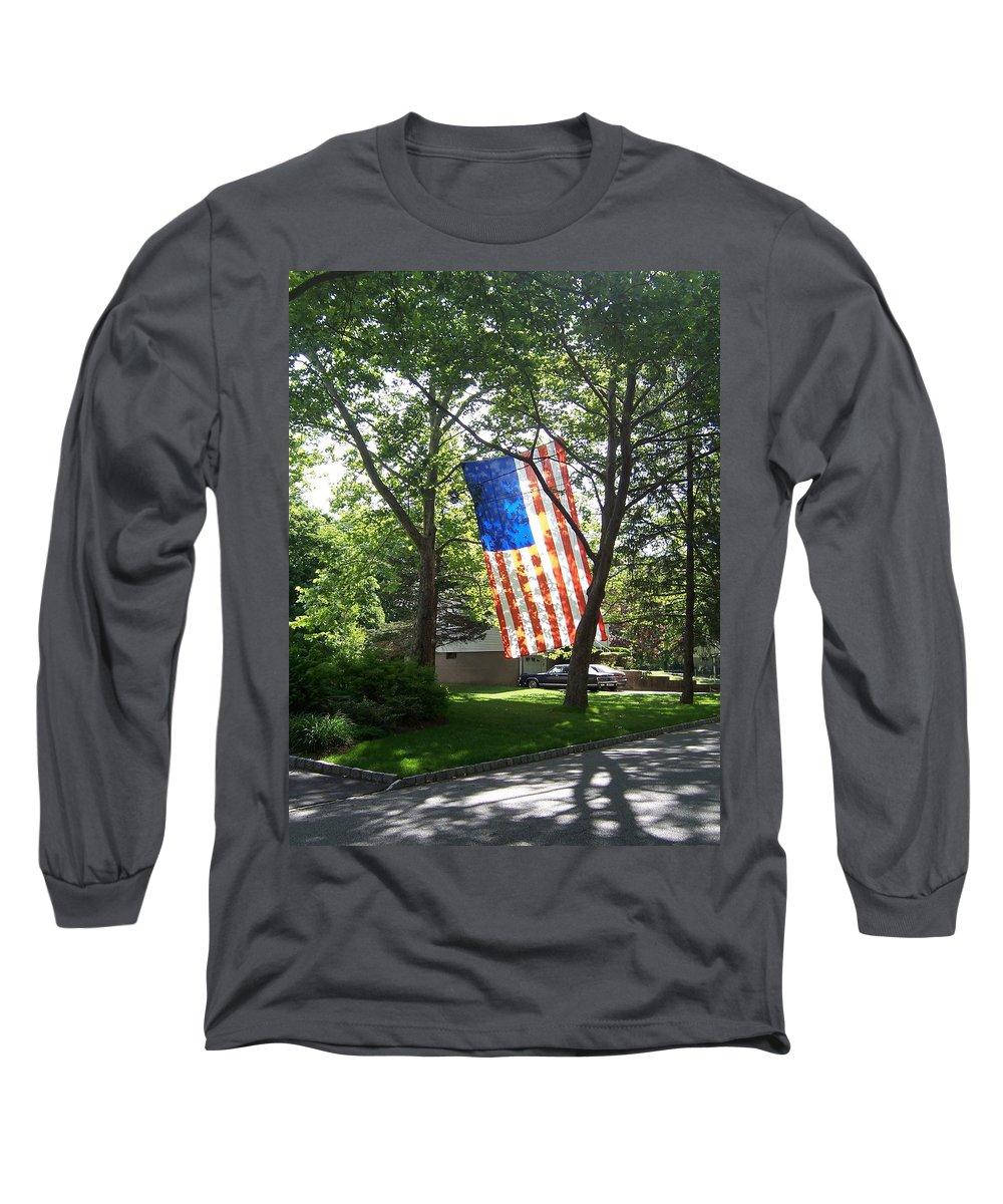 American Flag Long Sleeve T-Shirt featuring the photograph America The Beautiful by Laurie Paci