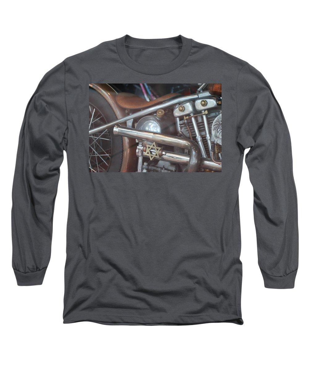Motorcycle Long Sleeve T-Shirt featuring the photograph Ami's Bike by Rob Hans