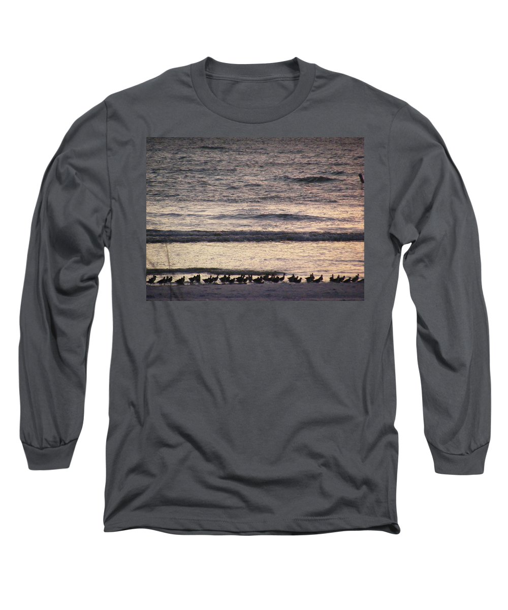 Evening Stroll Long Sleeve T-Shirt featuring the photograph An Evening Stroll by Ed Smith