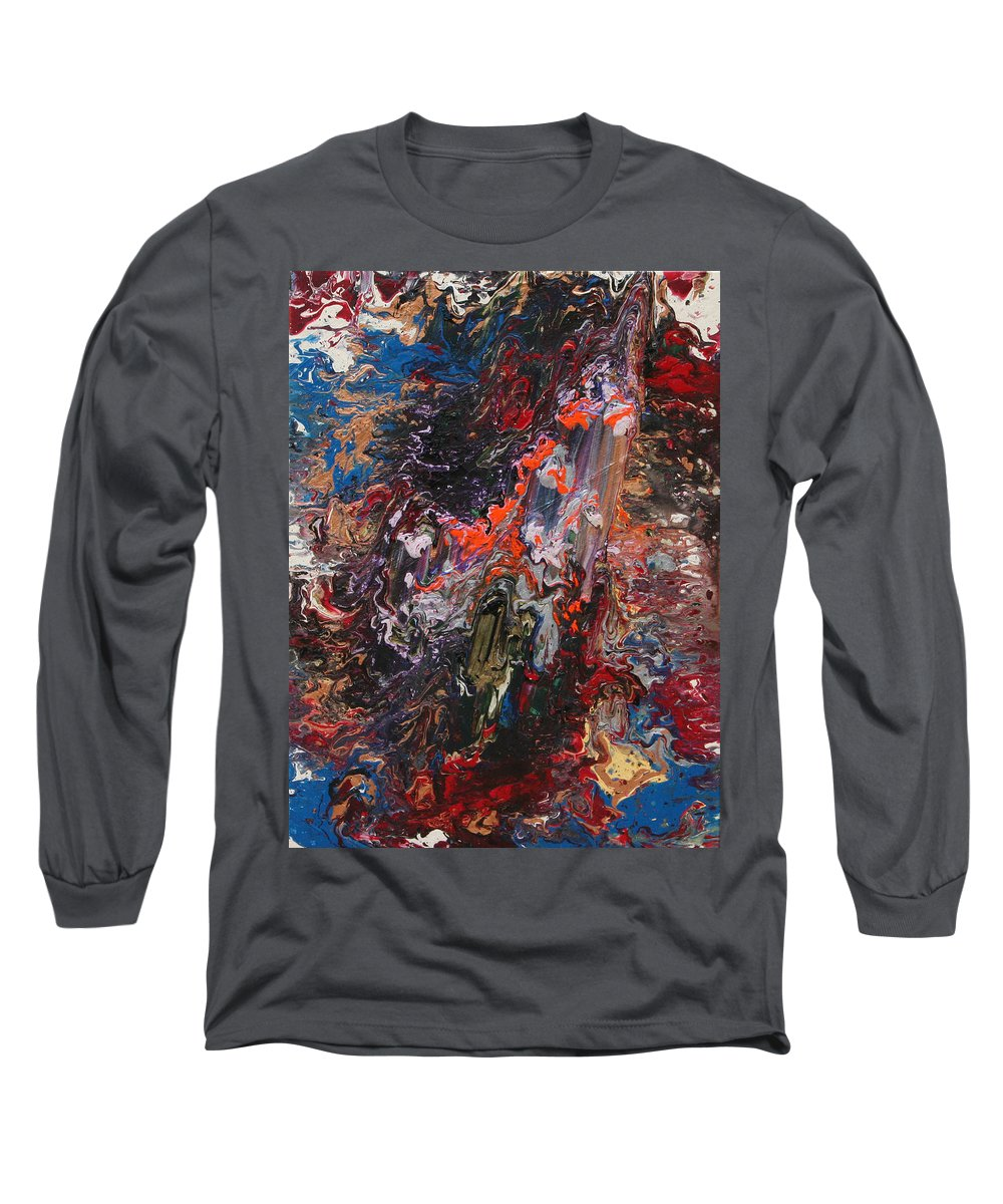 Fusionart Long Sleeve T-Shirt featuring the painting Angel Rising by Ralph White