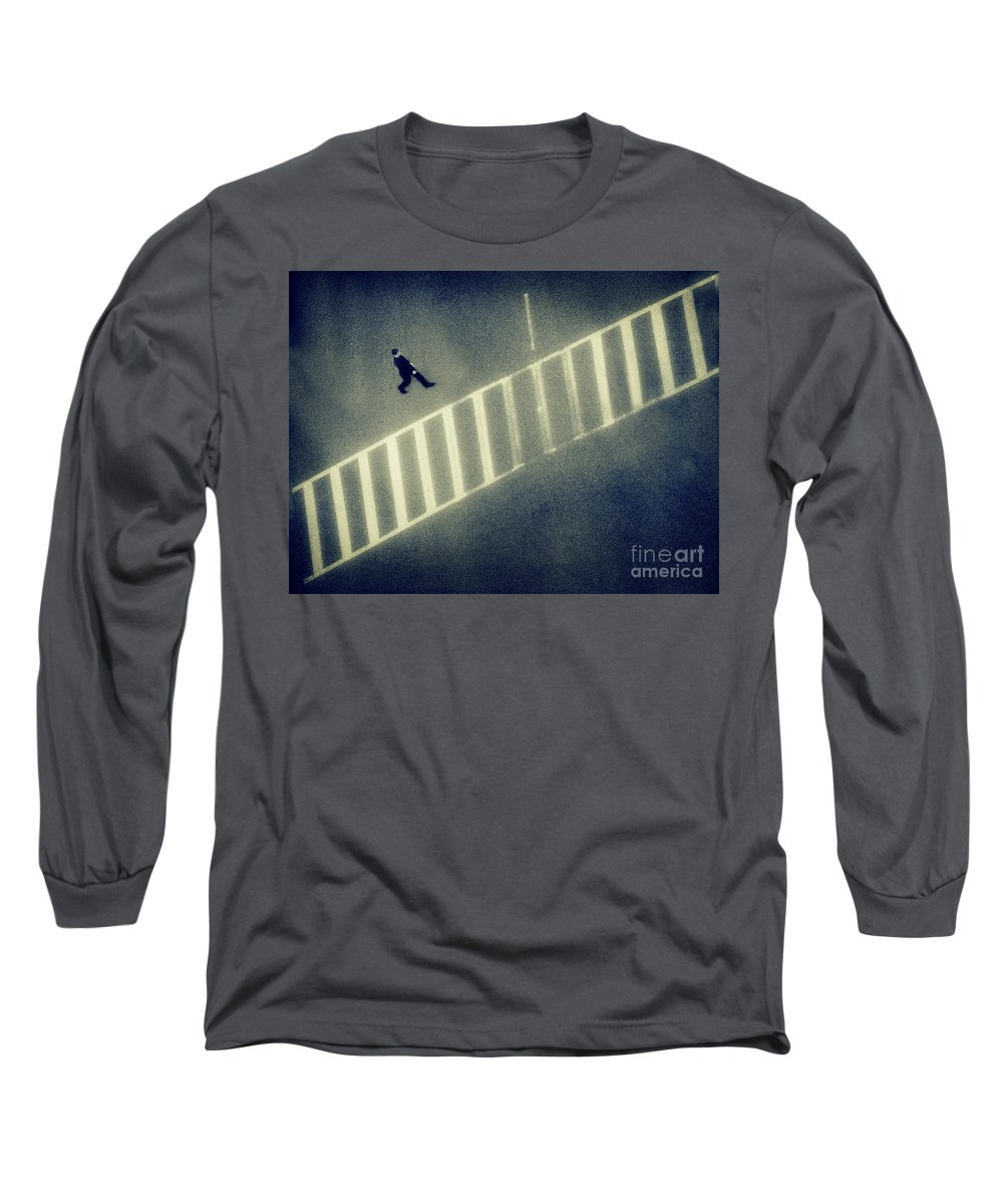 City Long Sleeve T-Shirt featuring the photograph Anonymity by Dana DiPasquale