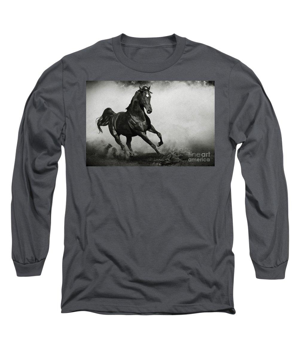 Arab Long Sleeve T-Shirt featuring the photograph Arabian Horse by Dimitar Hristov