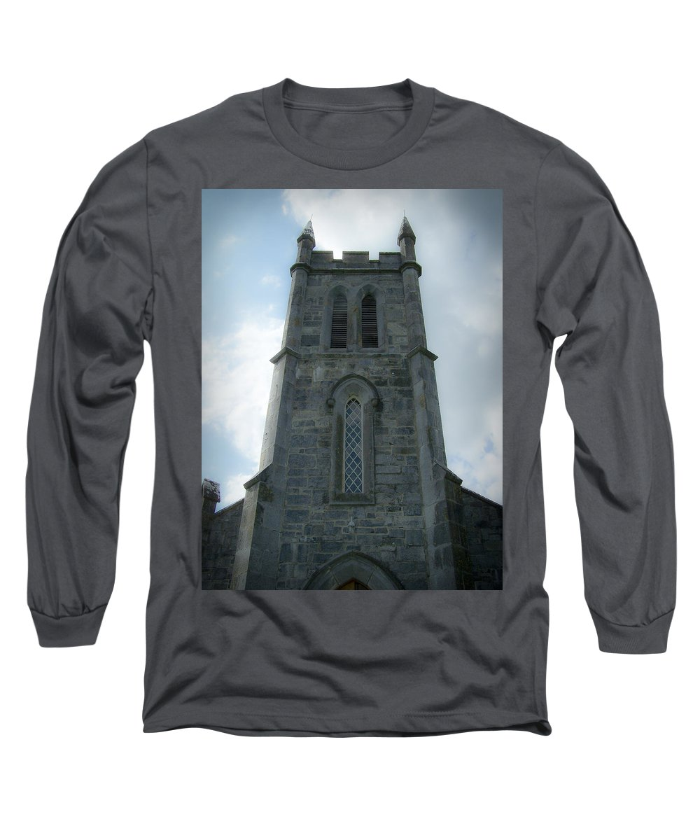 Irish Long Sleeve T-Shirt featuring the photograph Ardcroney Church County Clare Ireland by Teresa Mucha