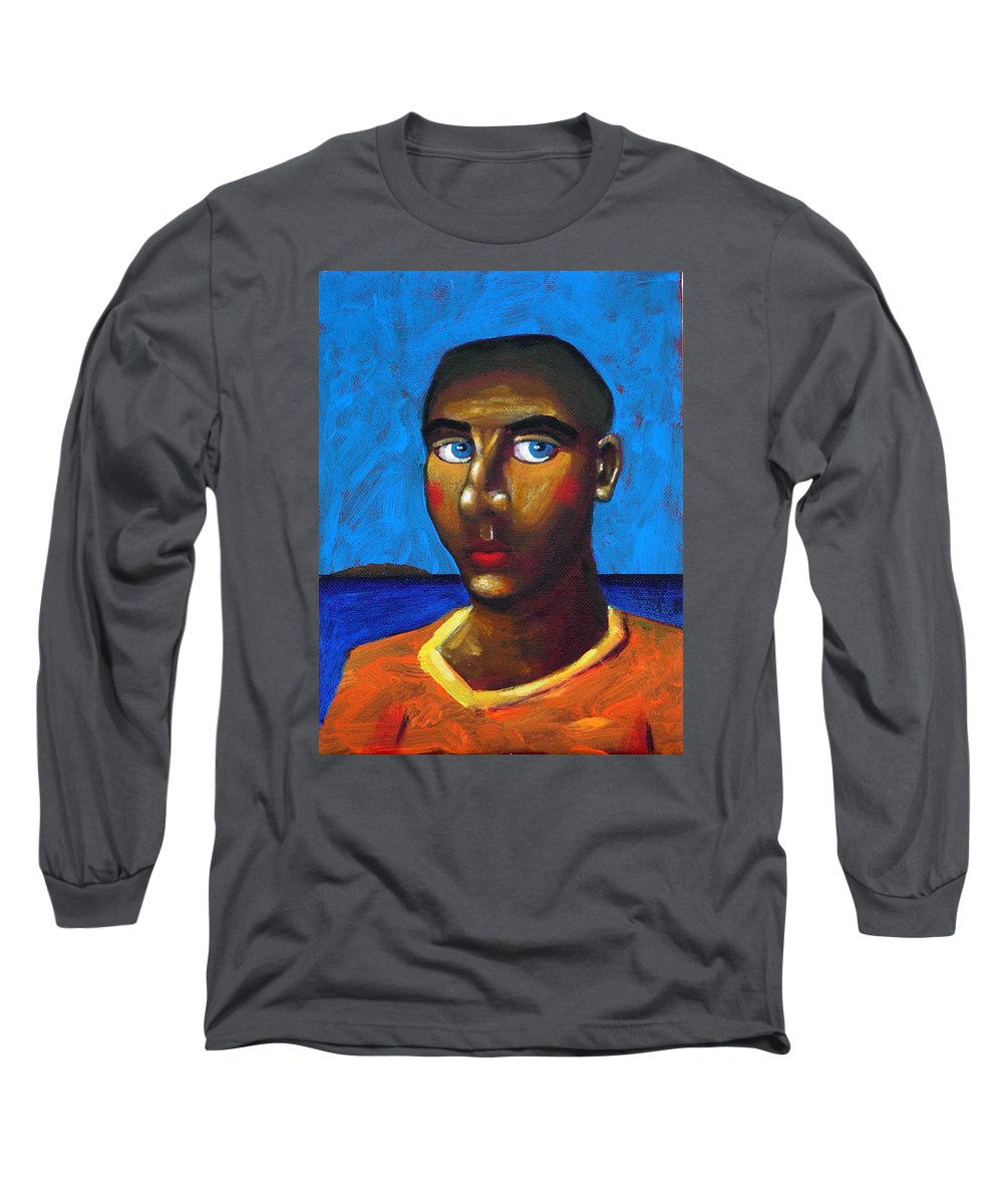 Arsonist Long Sleeve T-Shirt featuring the painting Arsonist by Dimitris Milionis