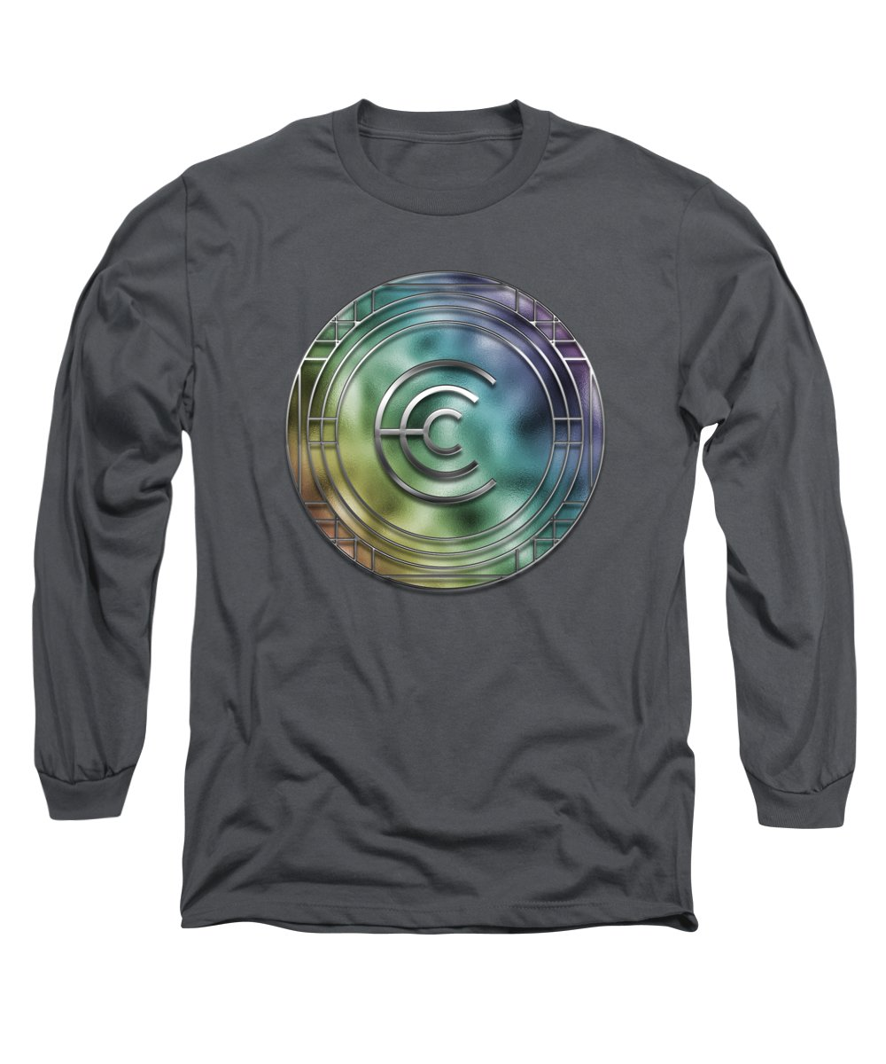 C Long Sleeve T-Shirt featuring the digital art Art Deco - C by Mary Machare
