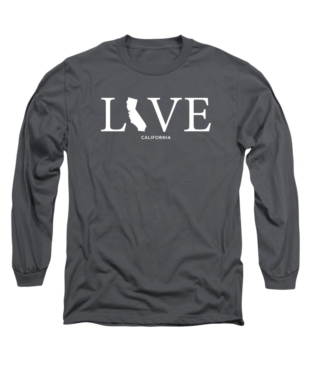 Ca Long Sleeve T-Shirt featuring the mixed media Ca Love by Nancy Ingersoll