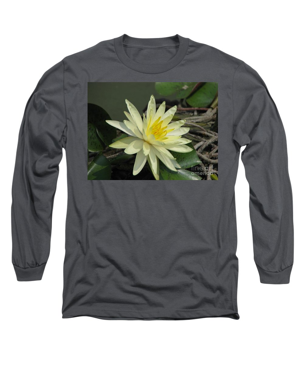 Lilly Long Sleeve T-Shirt featuring the photograph At The Pond by Amanda Barcon