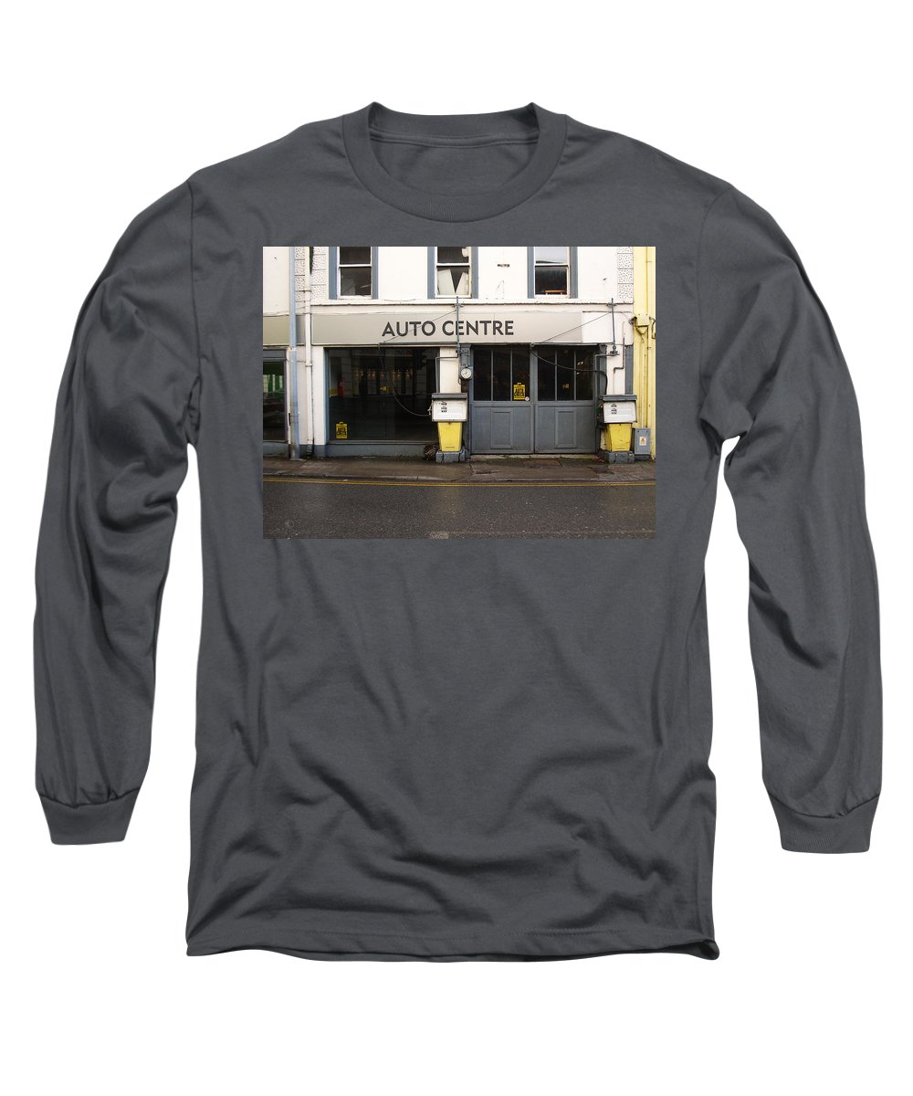 Auto Long Sleeve T-Shirt featuring the photograph Auto Centre by Tim Nyberg