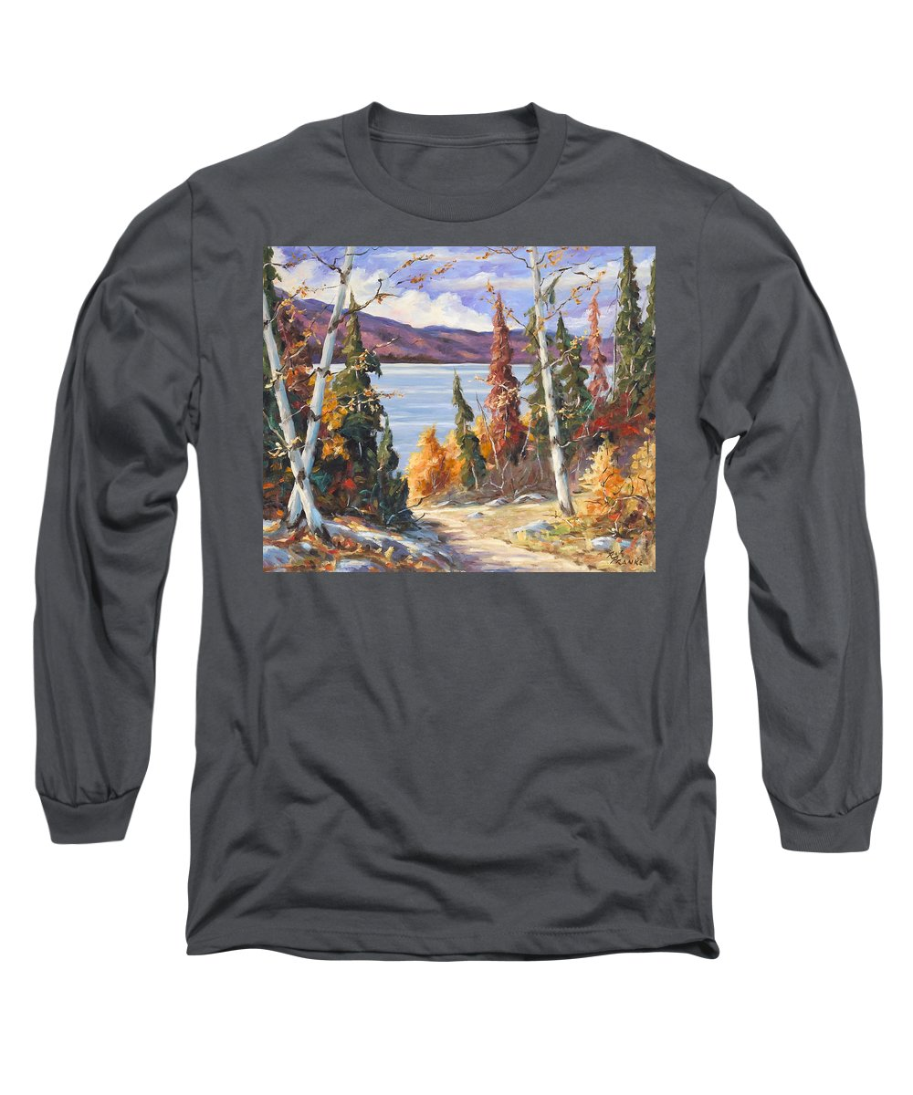 Art Long Sleeve T-Shirt featuring the painting Automn Colors by Richard T Pranke