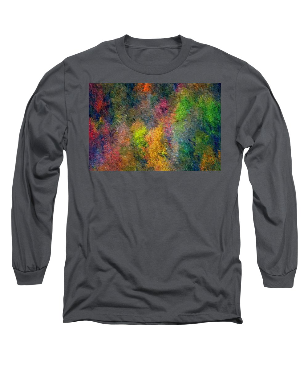 Landscape Long Sleeve T-Shirt featuring the digital art Autum Hillside by David Lane