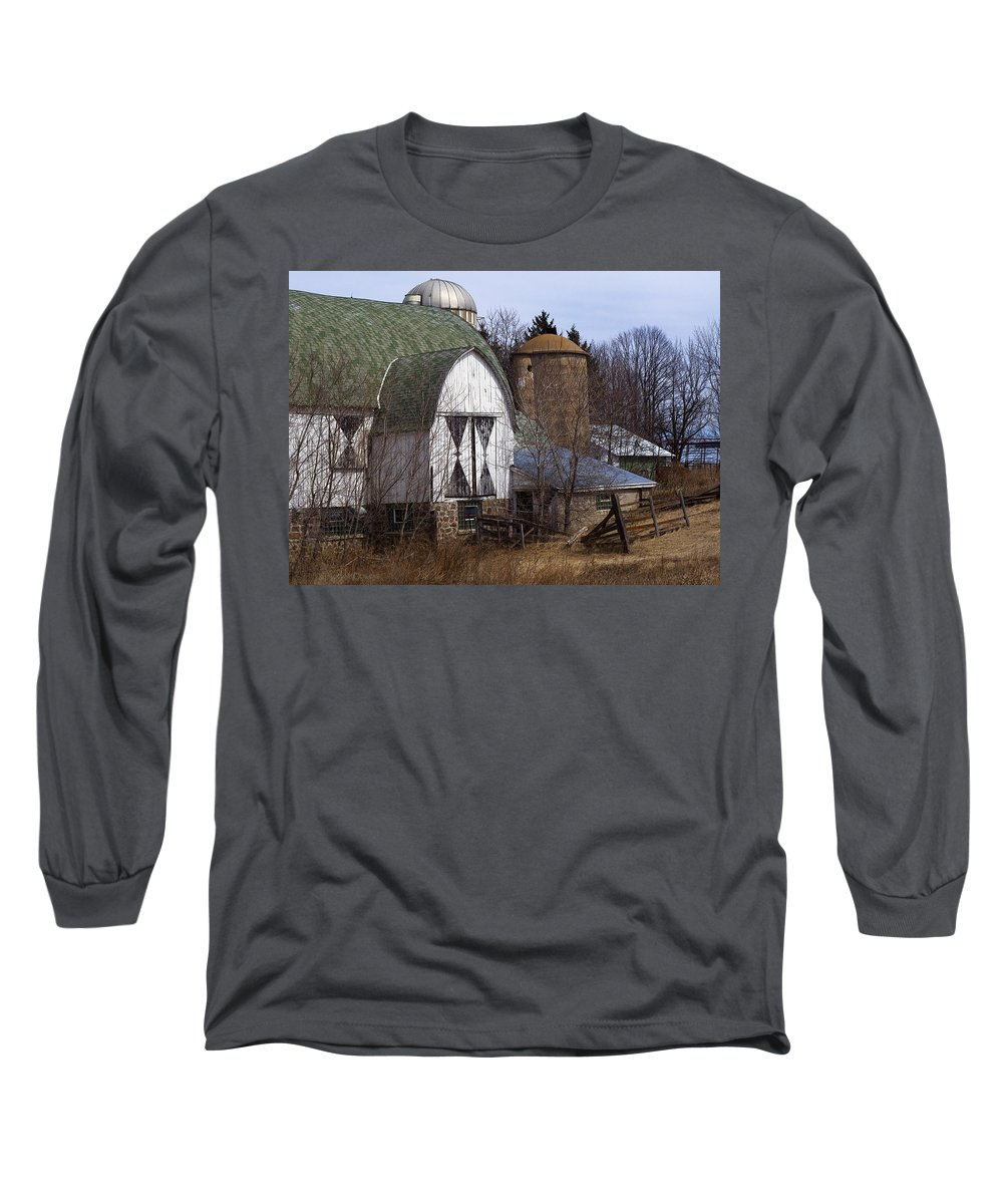 Barn Long Sleeve T-Shirt featuring the photograph Barn On 29 by Tim Nyberg