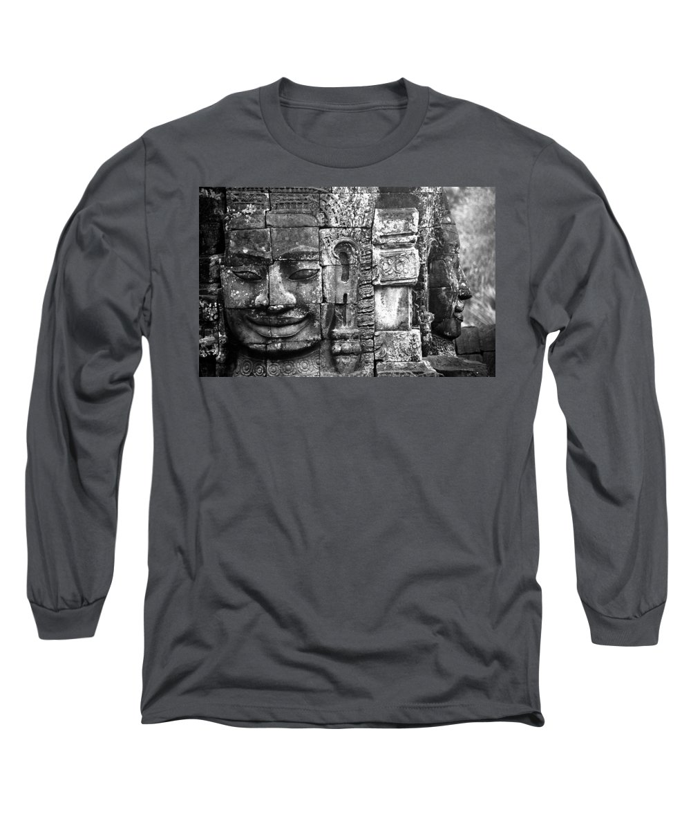 Bayon Temple Long Sleeve T-Shirt featuring the photograph Bayon IIi by Patrick Klauss