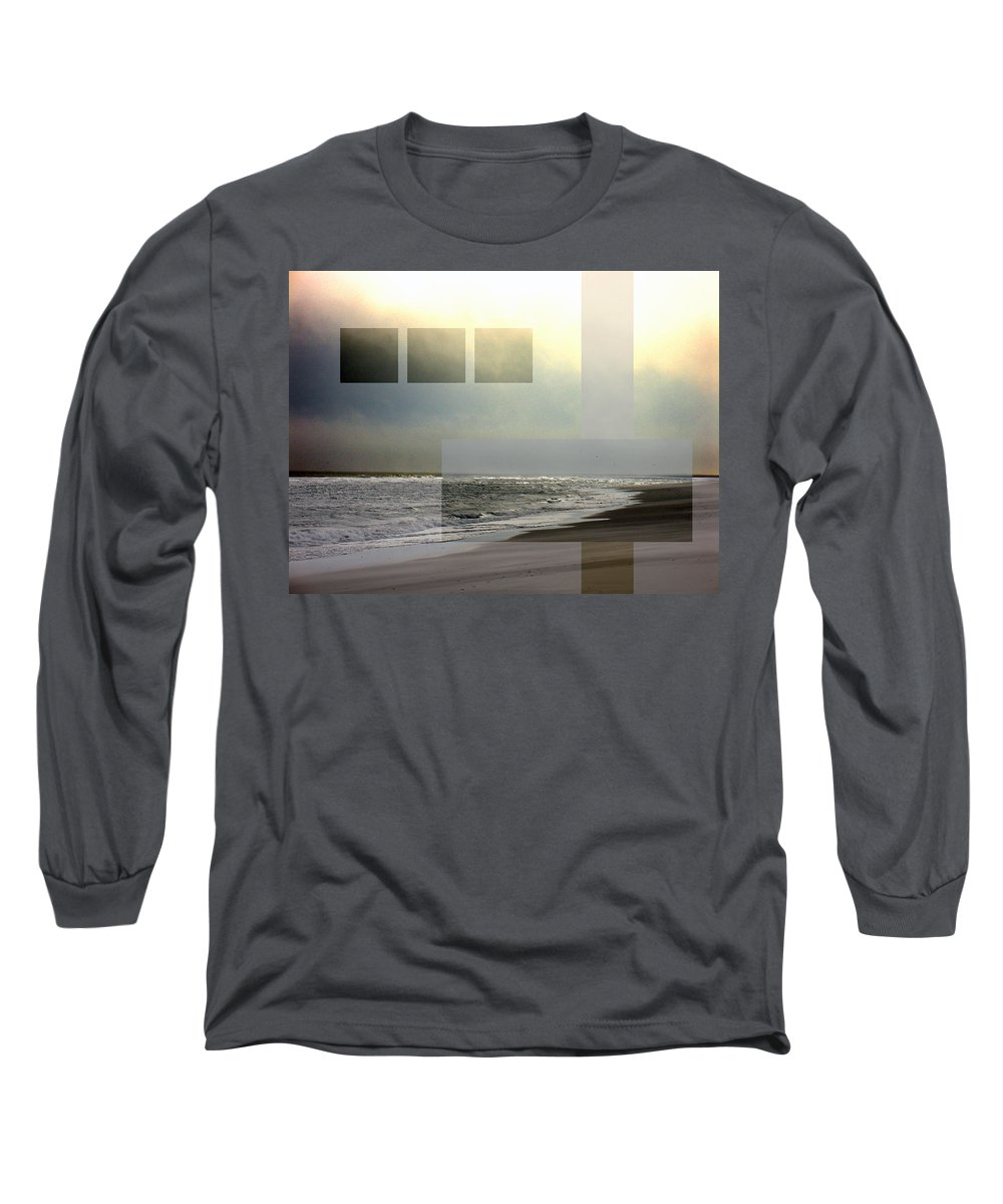 Beach Long Sleeve T-Shirt featuring the photograph Beach Collage 2 by Steve Karol