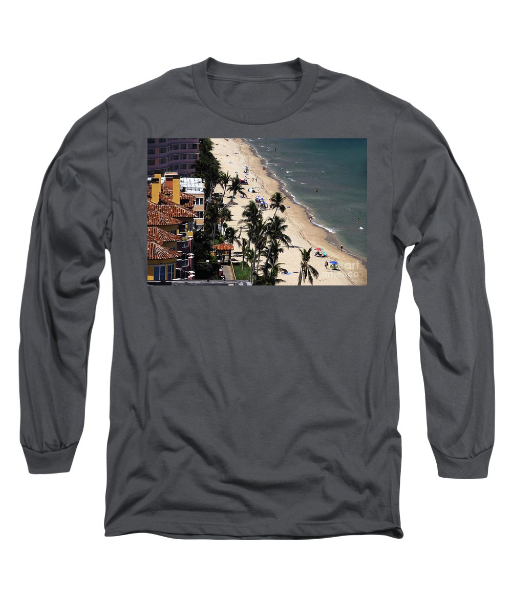 Beach Long Sleeve T-Shirt featuring the photograph Beach Scene by David Lee Thompson