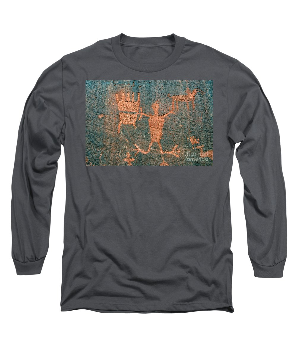 Ute Long Sleeve T-Shirt featuring the photograph Bear Clan Horse Rider by David Lee Thompson