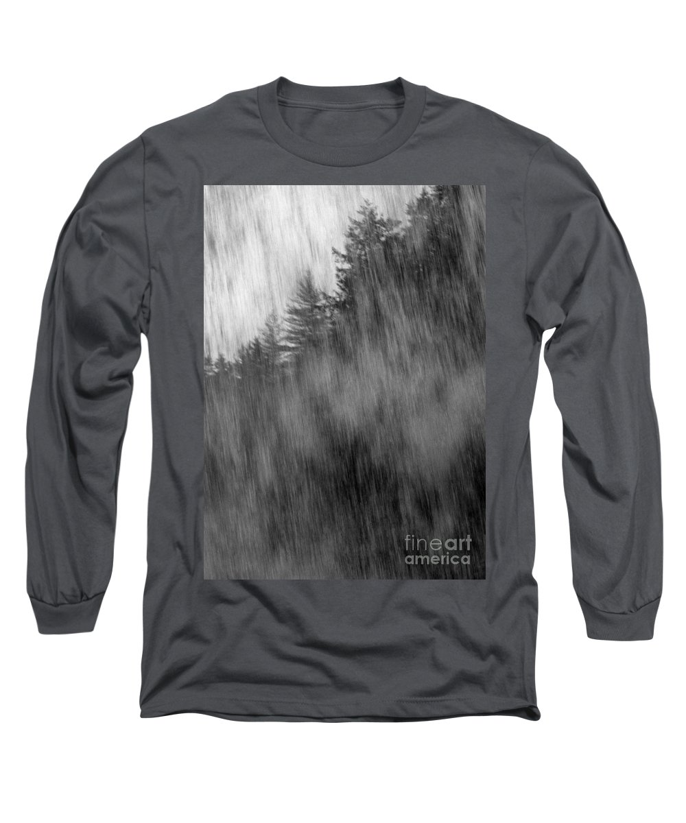 Waterfalls Long Sleeve T-Shirt featuring the photograph Behind The Falls by Richard Rizzo