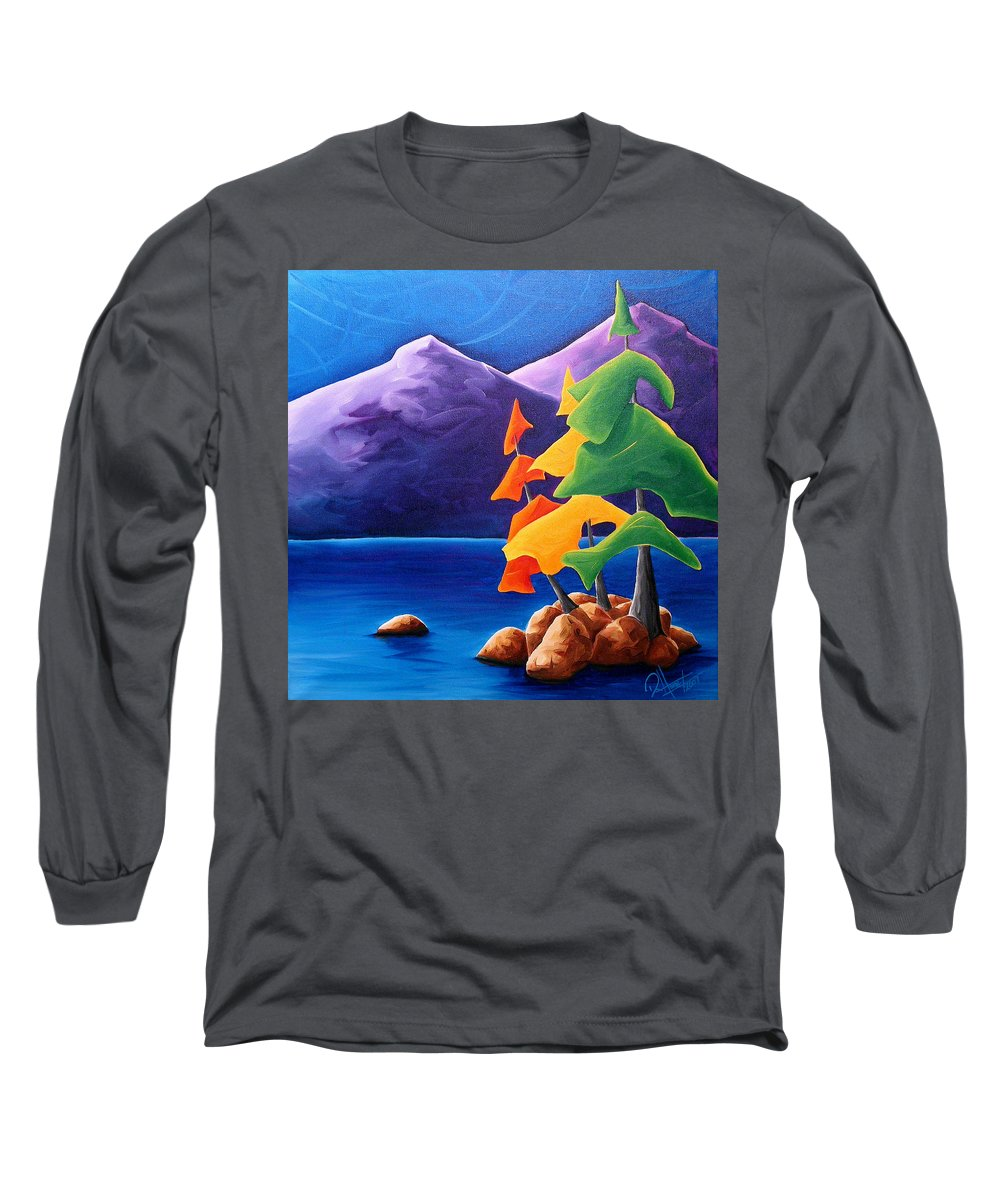 Landscape Long Sleeve T-Shirt featuring the painting Being Thankful by Richard Hoedl