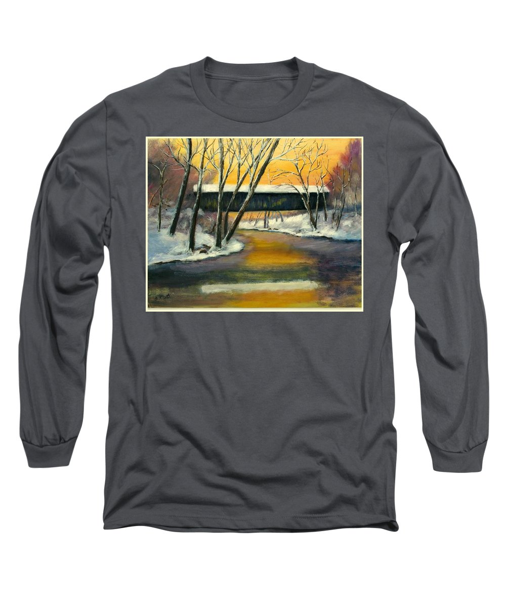 Kentucky Long Sleeve T-Shirt featuring the painting Bennett by Gail Kirtz