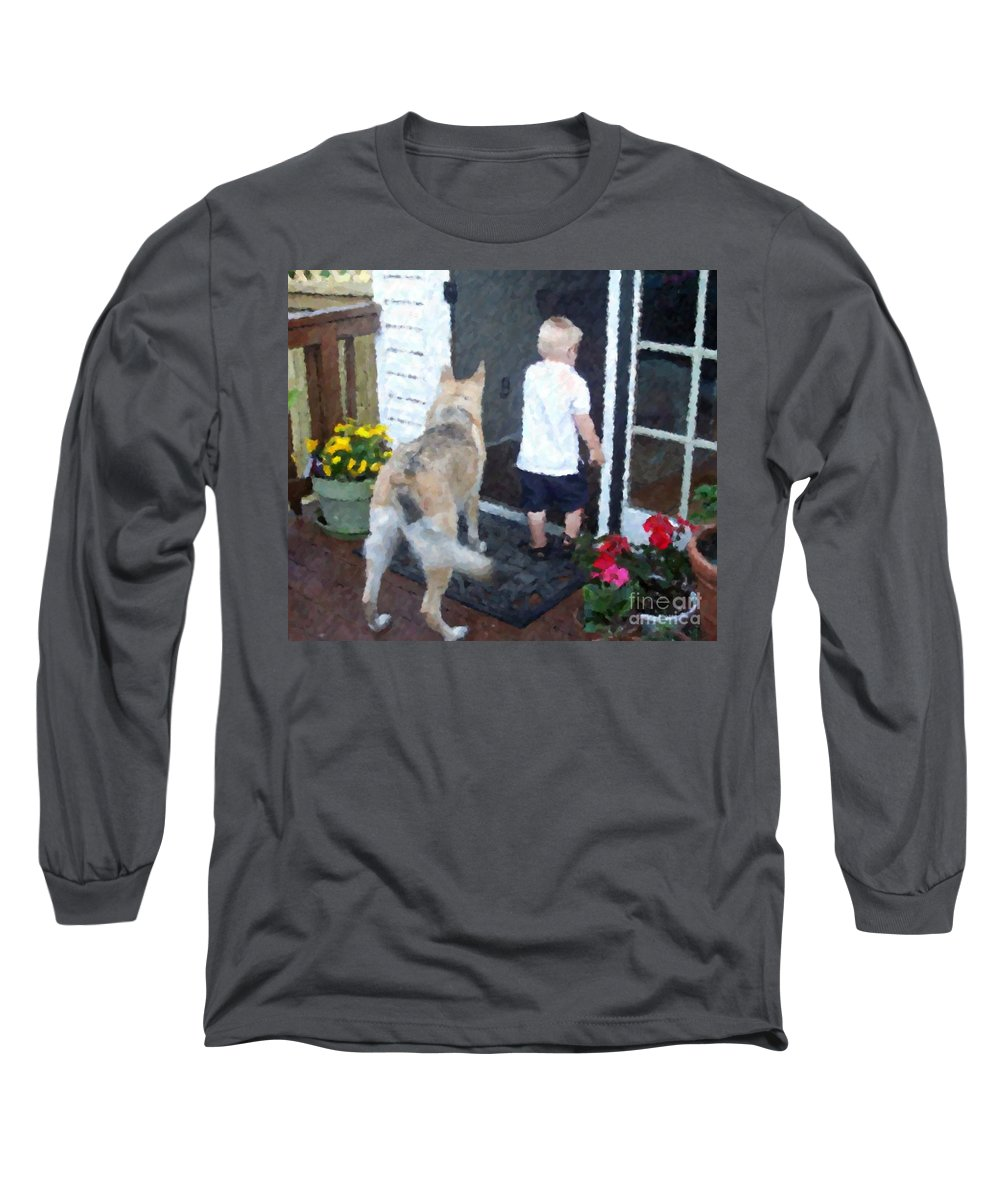 Dogs Long Sleeve T-Shirt featuring the photograph Best Friends by Debbi Granruth