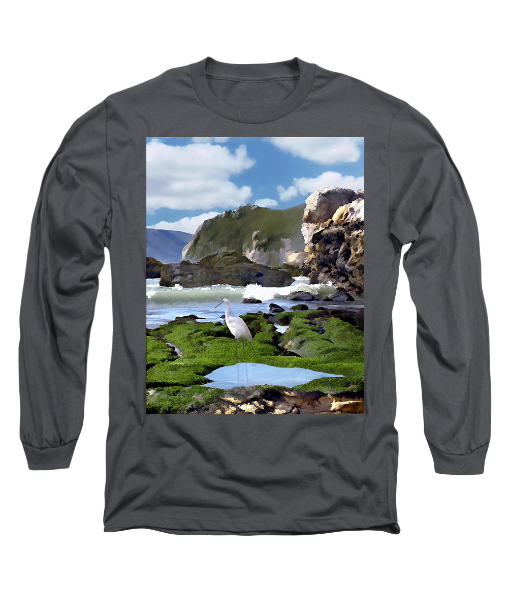 Ocean Long Sleeve T-Shirt featuring the photograph Bird's Eye View by Kurt Van Wagner