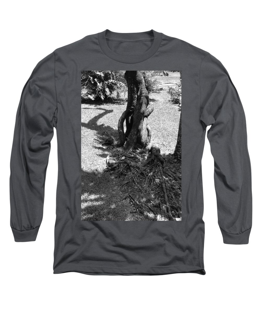 Black And White Long Sleeve T-Shirt featuring the photograph Black And White Roots by Rob Hans
