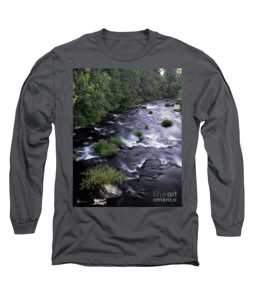 River Long Sleeve T-Shirt featuring the photograph Black Waters by Peter Piatt
