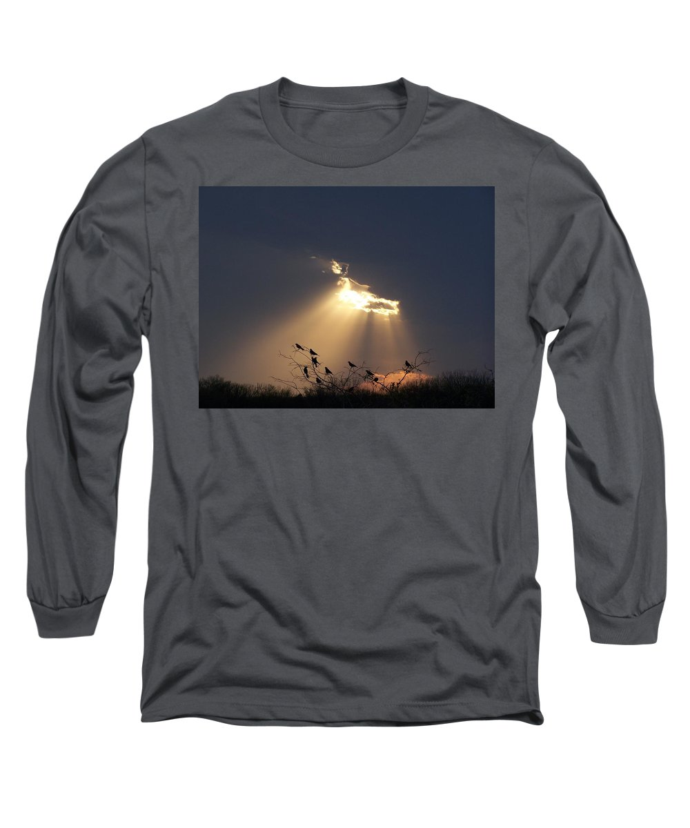 Storm Long Sleeve T-Shirt featuring the photograph Blackbird Sky by Gale Cochran-Smith