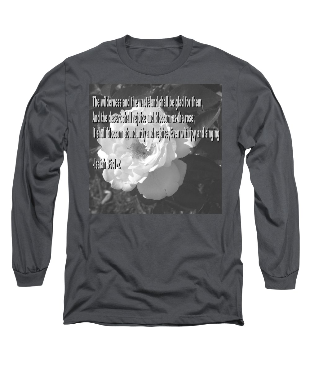 Christian Long Sleeve T-Shirt featuring the photograph Blossom As The Rose by Pharris Art