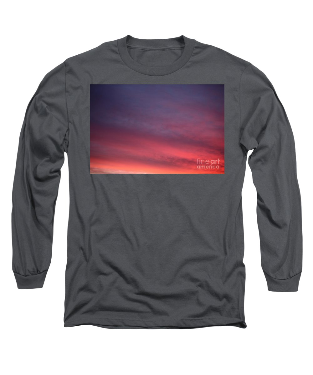 Sunset Long Sleeve T-Shirt featuring the photograph Blue And Orange Sunset by Nadine Rippelmeyer
