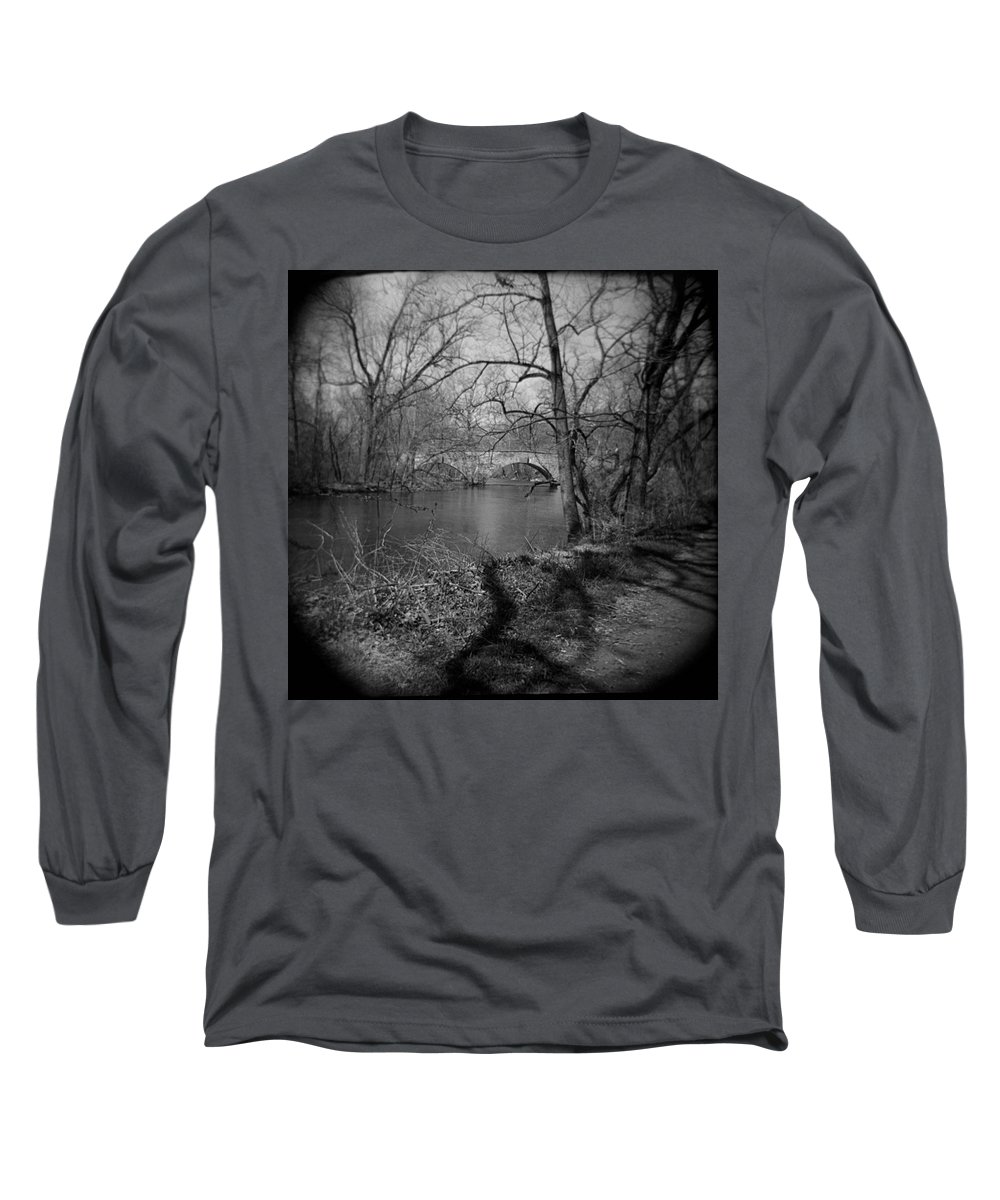 Photograph Long Sleeve T-Shirt featuring the photograph Boiling Springs Stone Bridge by Jean Macaluso