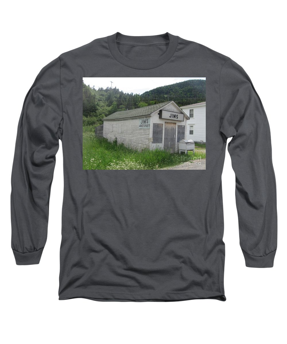 Photograph Bonne Bay Newfoundland Army Navy Store Long Sleeve T-Shirt featuring the photograph Bonne Bay2 by Seon-Jeong Kim
