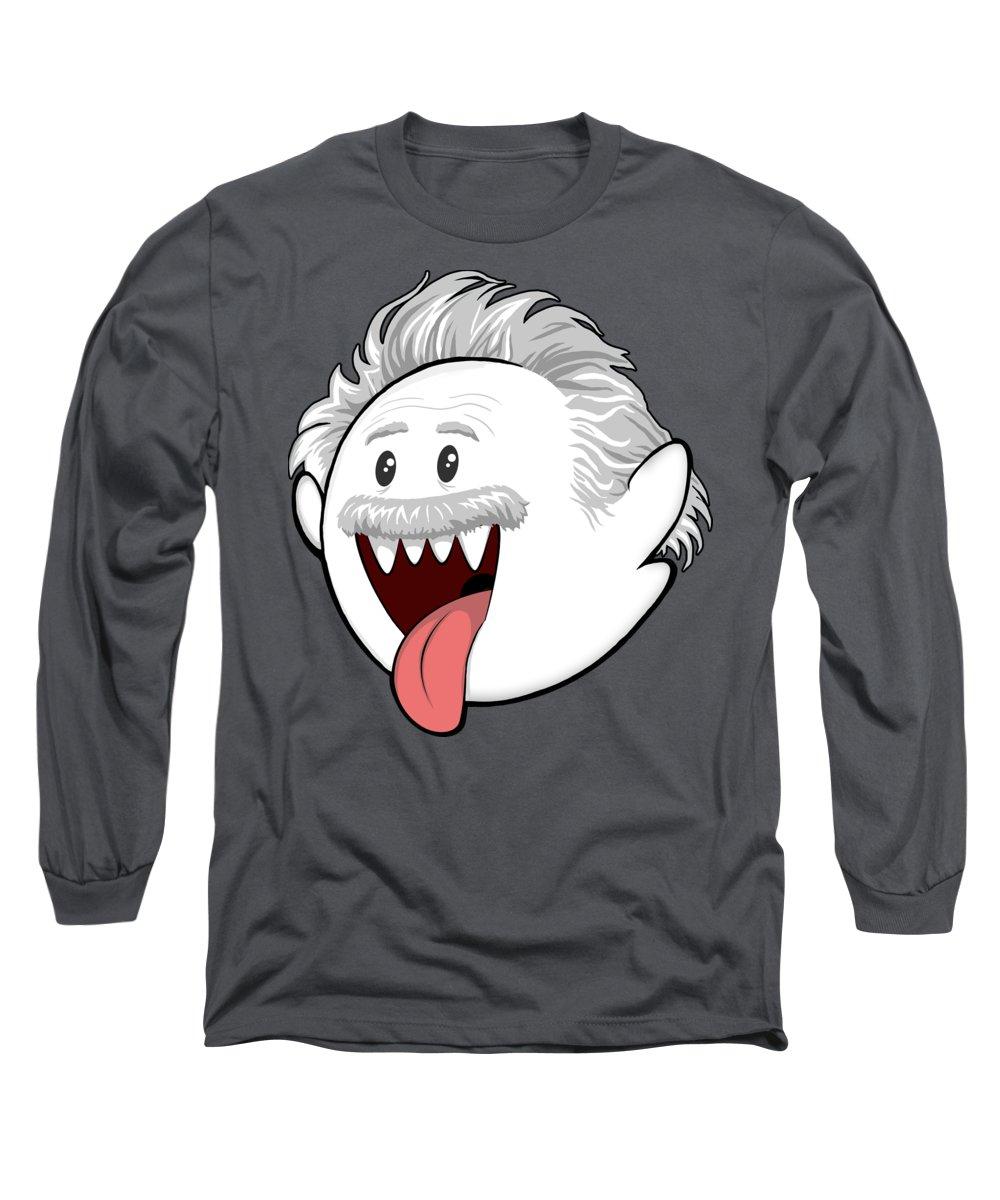 Boo Long Sleeve T-Shirt featuring the digital art Boo-Stein by Olga Shvartsur