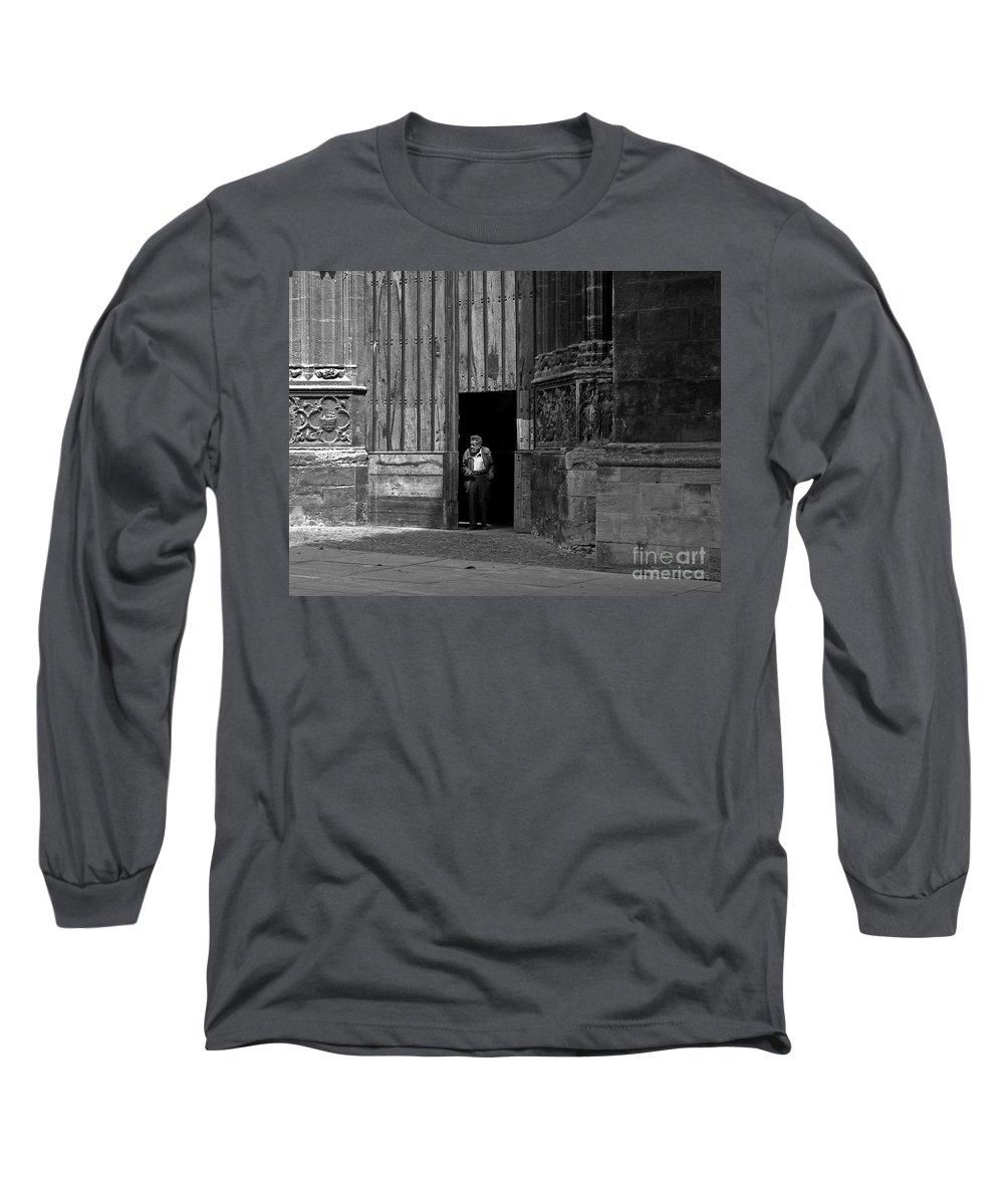 Bordeaux Long Sleeve T-Shirt featuring the photograph Bordeaux Church Door by Thomas Marchessault