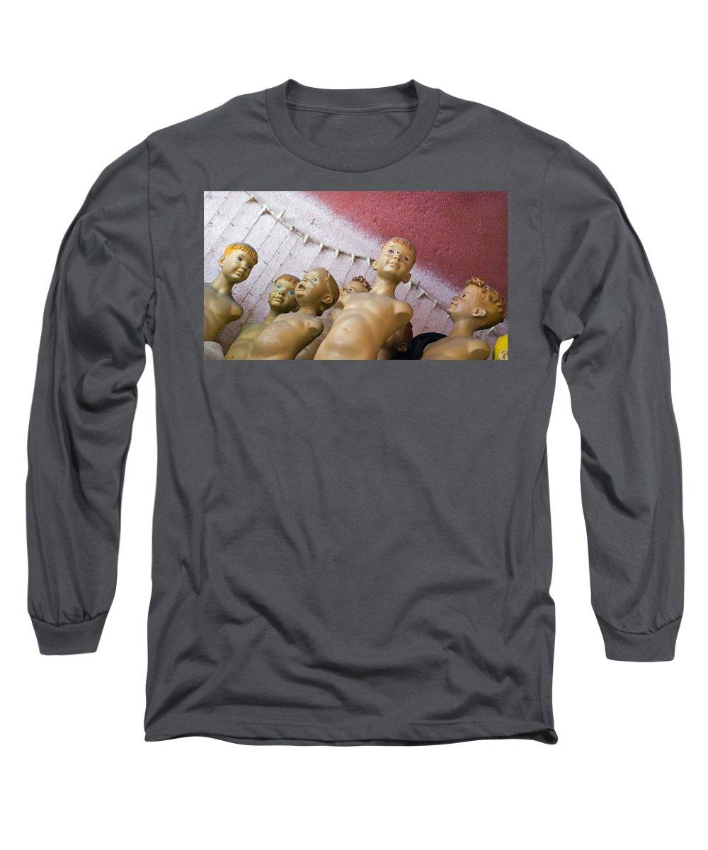 Boy Long Sleeve T-Shirt featuring the photograph Boys Club by Skip Hunt