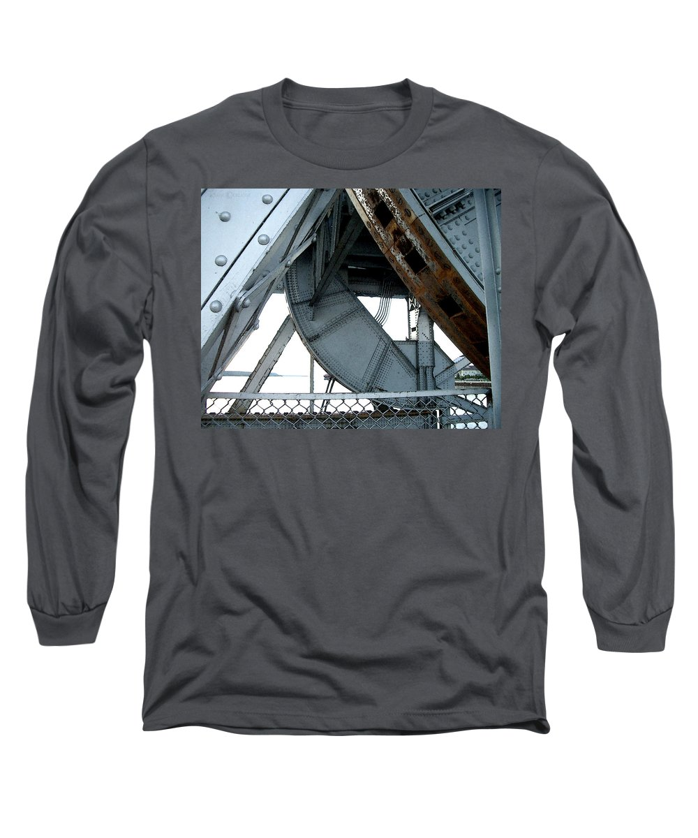 Steel Long Sleeve T-Shirt featuring the photograph Bridge Gears by Tim Nyberg