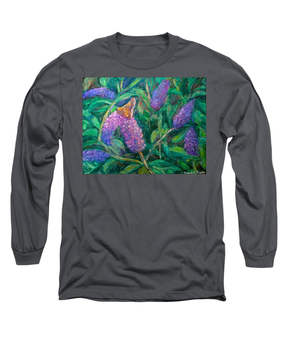 Butterfly Long Sleeve T-Shirt featuring the painting Butterfly View by Kendall Kessler