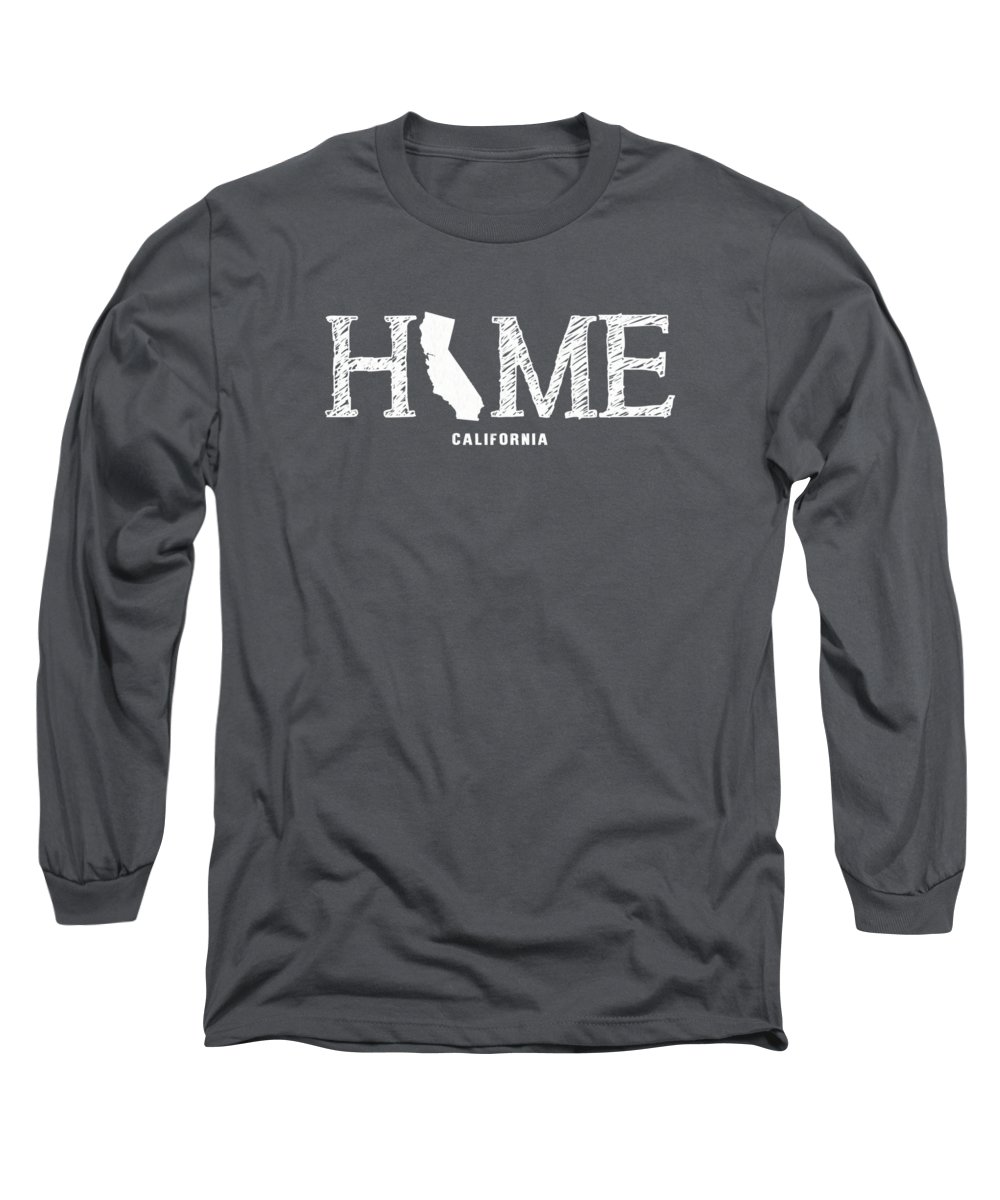 Ca Long Sleeve T-Shirt featuring the mixed media Ca Home by Nancy Ingersoll