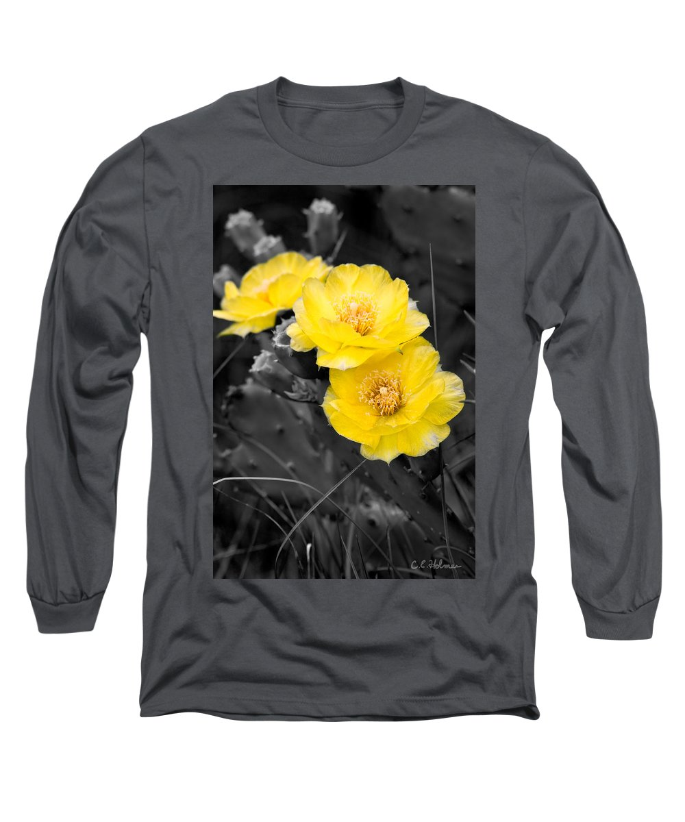 Cactus Long Sleeve T-Shirt featuring the photograph Cactus Blossom by Christopher Holmes