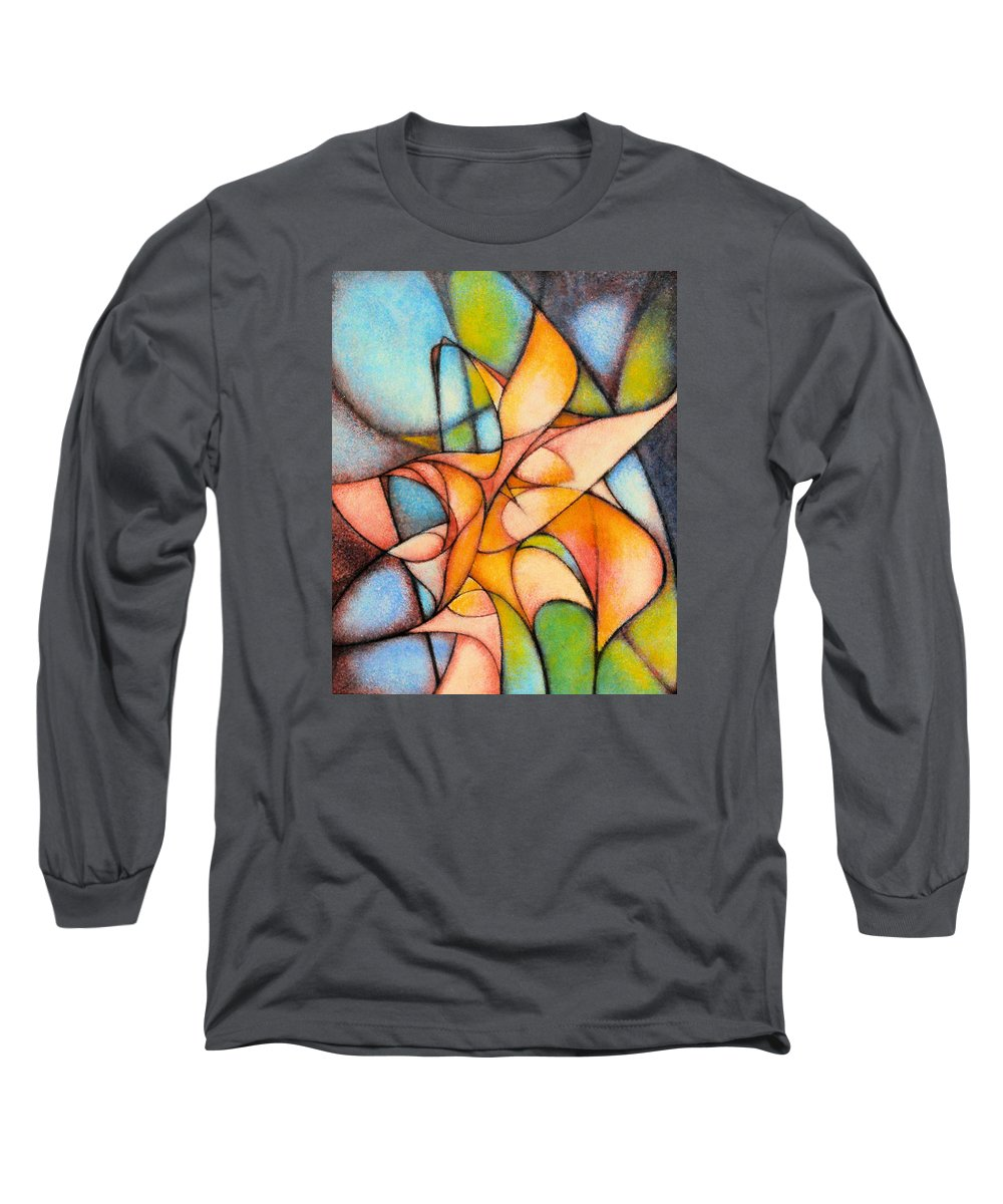 Contemporary Long Sleeve T-Shirt featuring the painting Calla Lillies by Kevin Lawrence Leveque