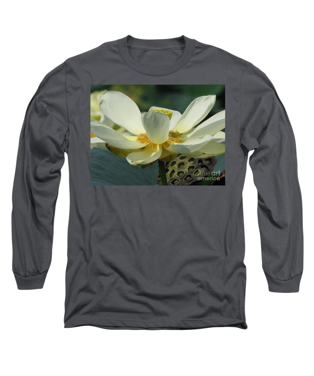Lotus Long Sleeve T-Shirt featuring the photograph Calm by Amanda Barcon